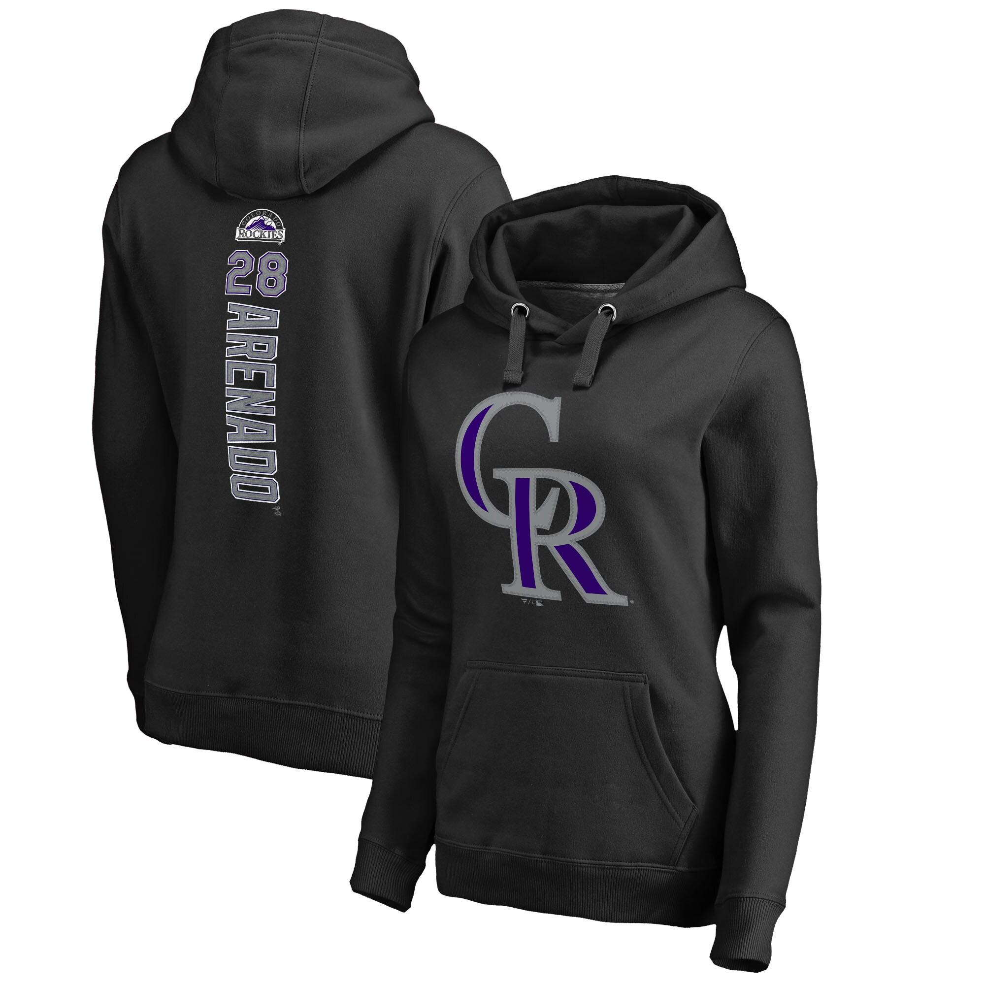 Nolan Arenado Colorado Rockies Fanatics Branded Women's Backer Pullover Hoodie - Black