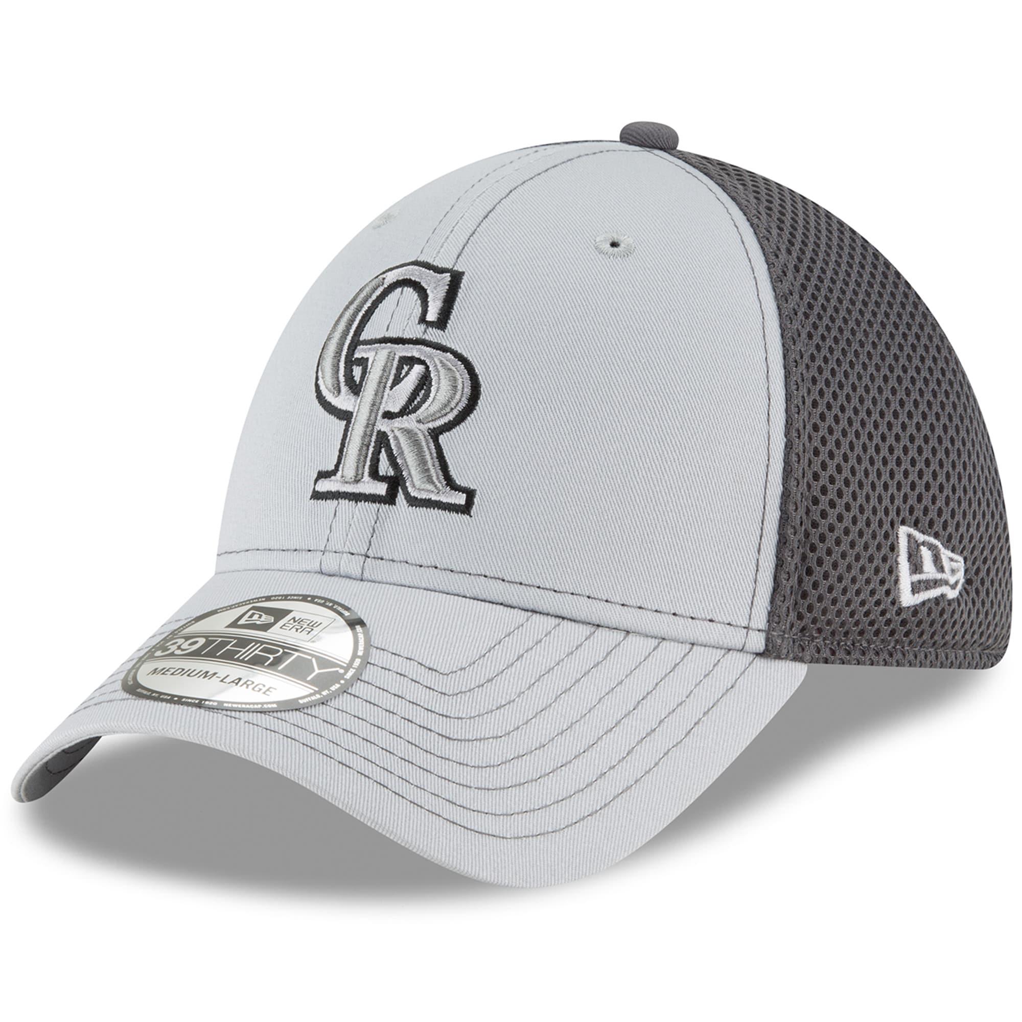Colorado Rockies New Era Grayed Out Neo 39THIRTY Flex Hat - Gray