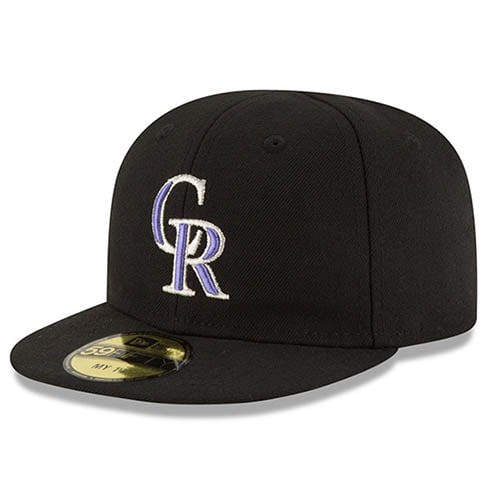 Colorado Rockies New Era Infant Authentic Collection On-Field My First 59FIFTY Fitted Hat - Black