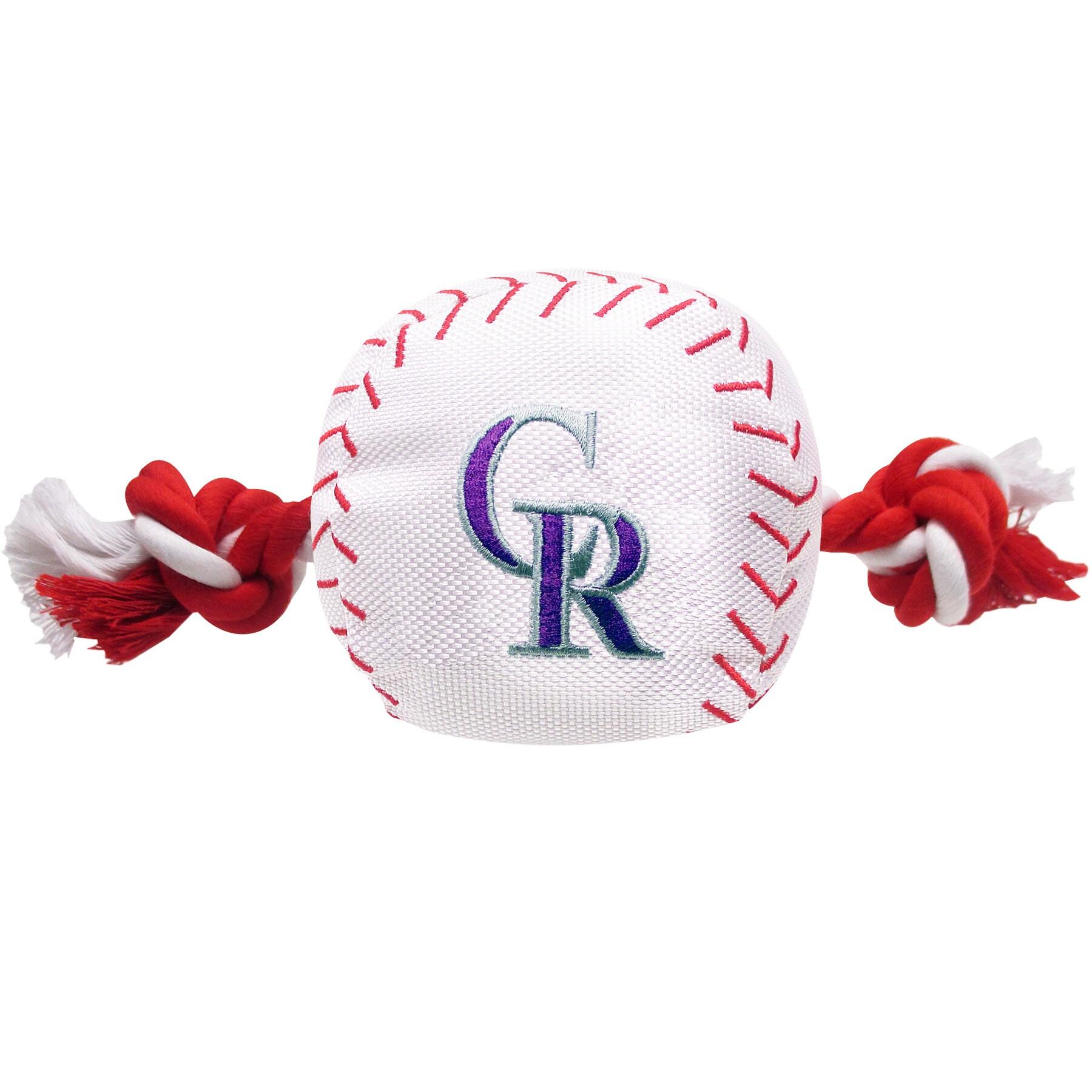 Colorado Rockies Dog Baseball Rope Toy