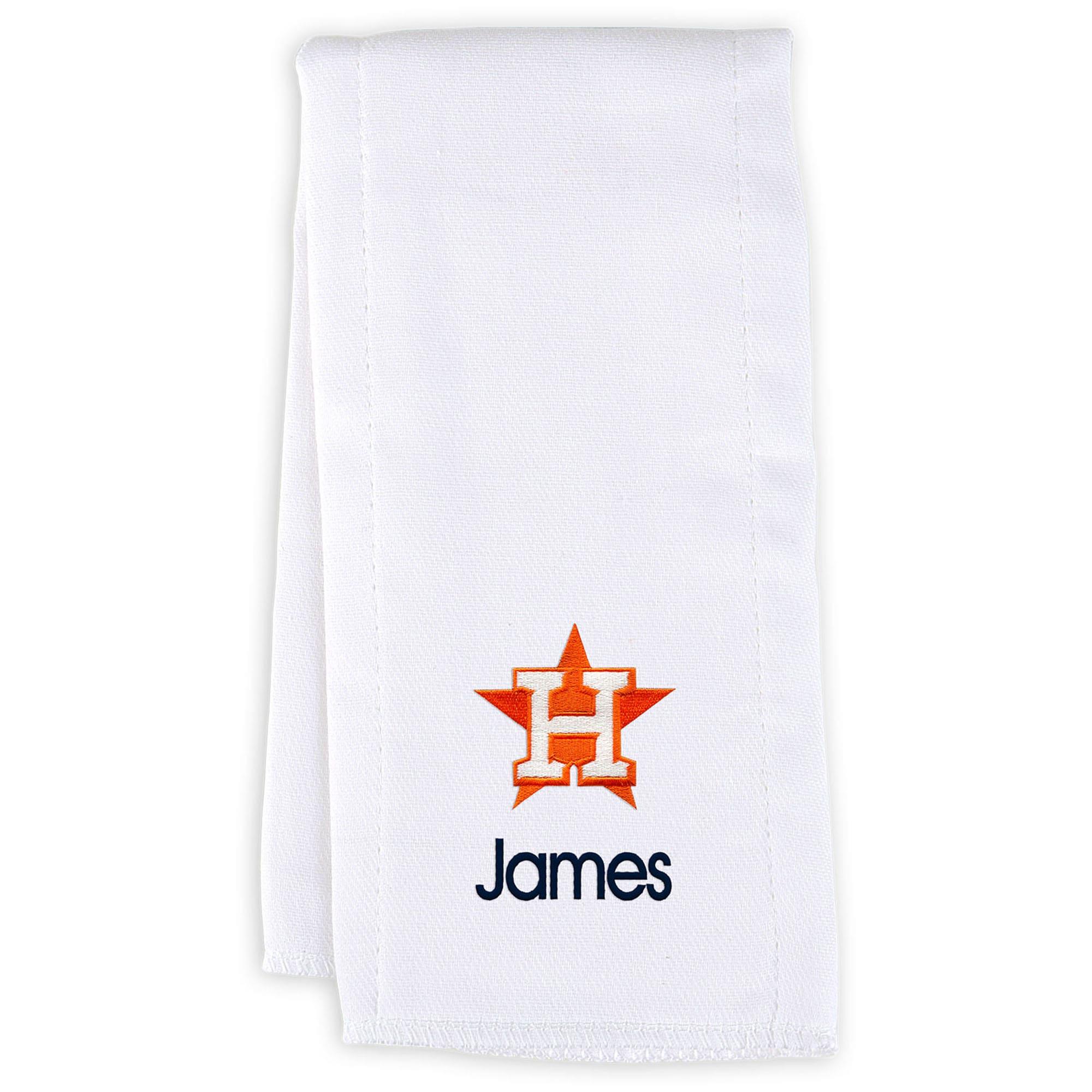 Houston Astros Infant Personalized Burp Cloth - White