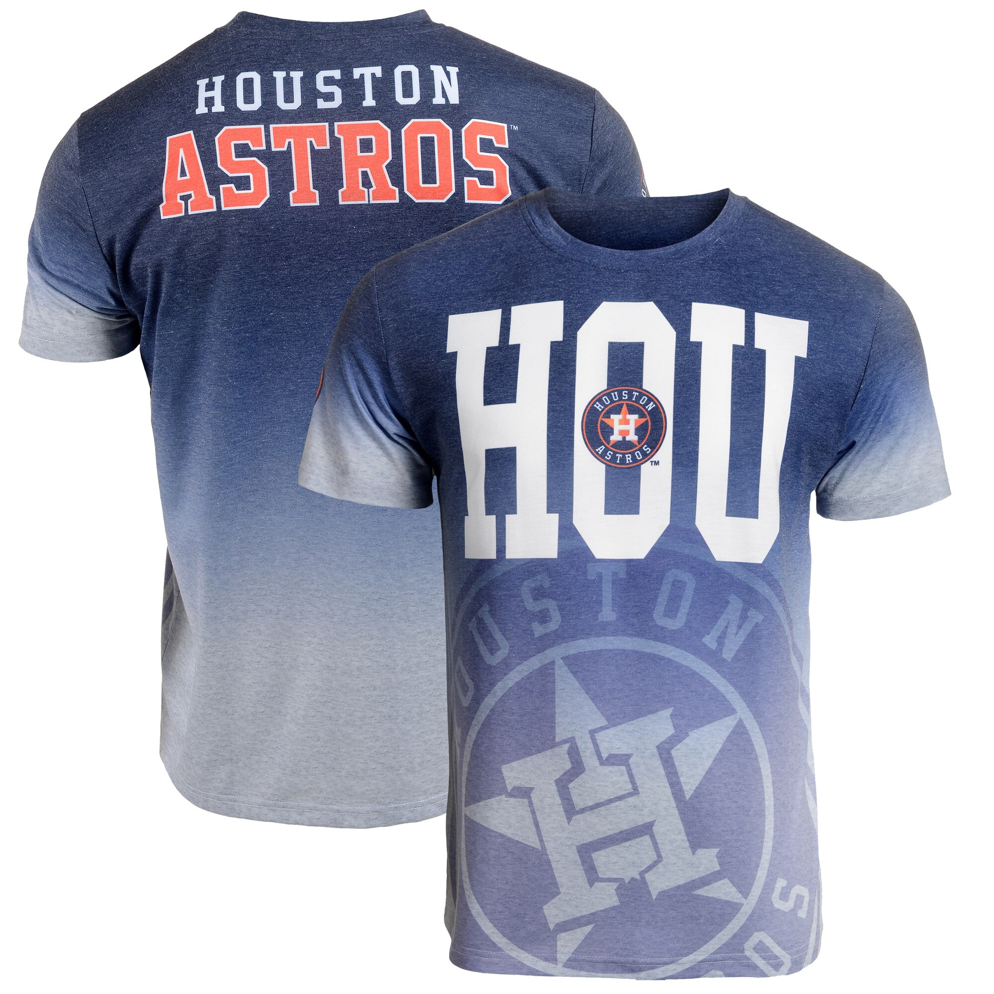 Houston Astros Gradient Sublimated T-Shirt - Navy/Gray