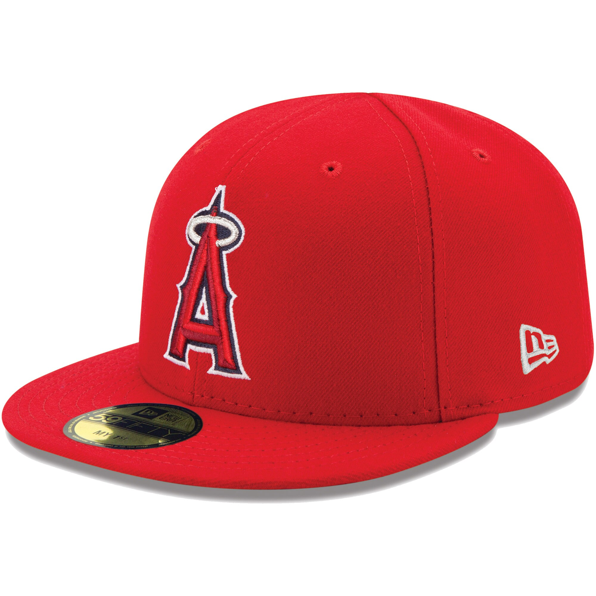 Los Angeles Angels New Era Infant MLB Authentic Collection On-Field My First 59FIFTY Fitted Hat - Red