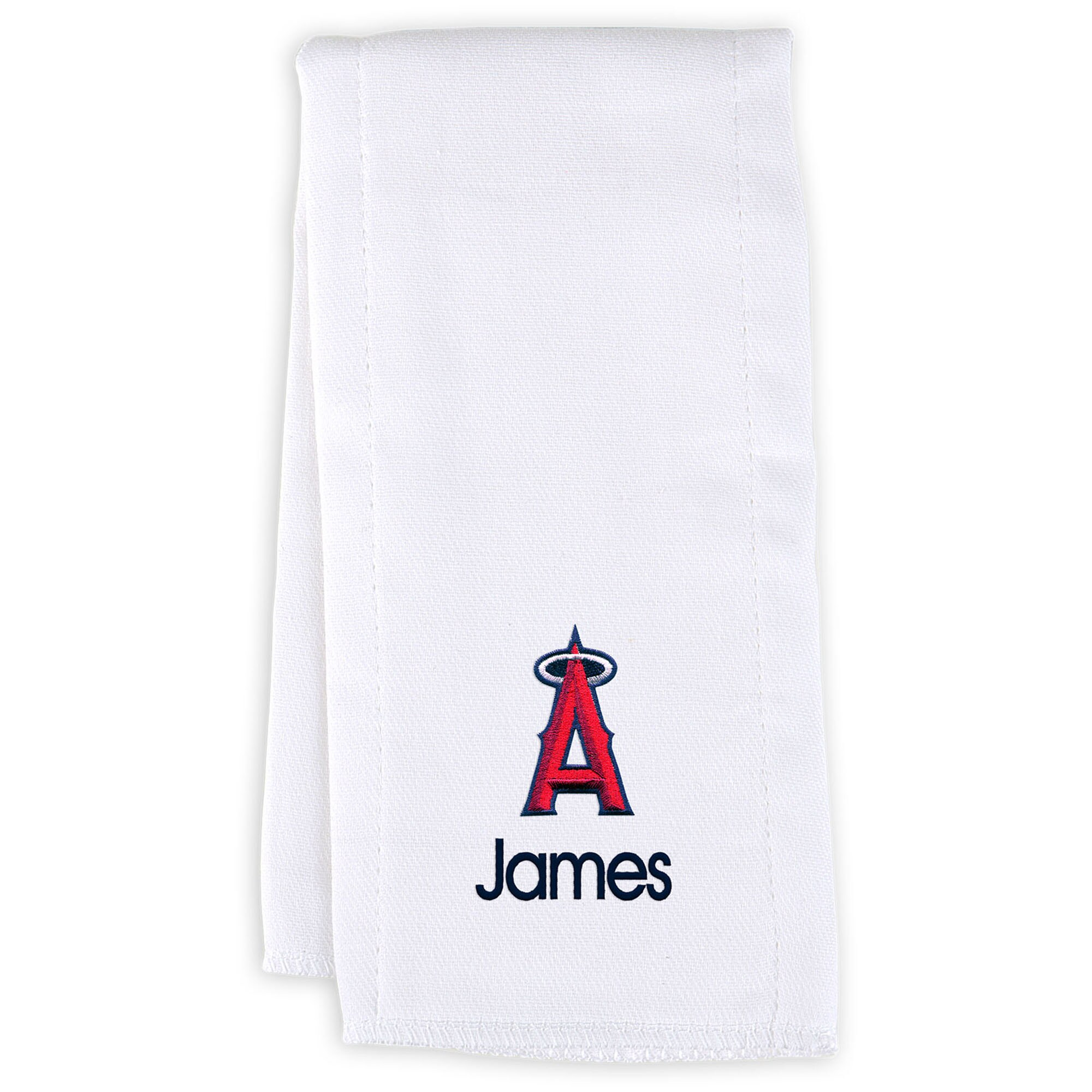 Los Angeles Angels Infant Personalized Burp Cloth - White