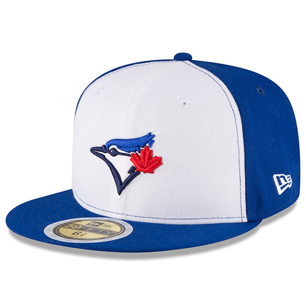 Toronto Blue Jays New Era Youth Authentic Collection On-Field Alternate 3 59FIFTY Fitted Hat - White/Royal