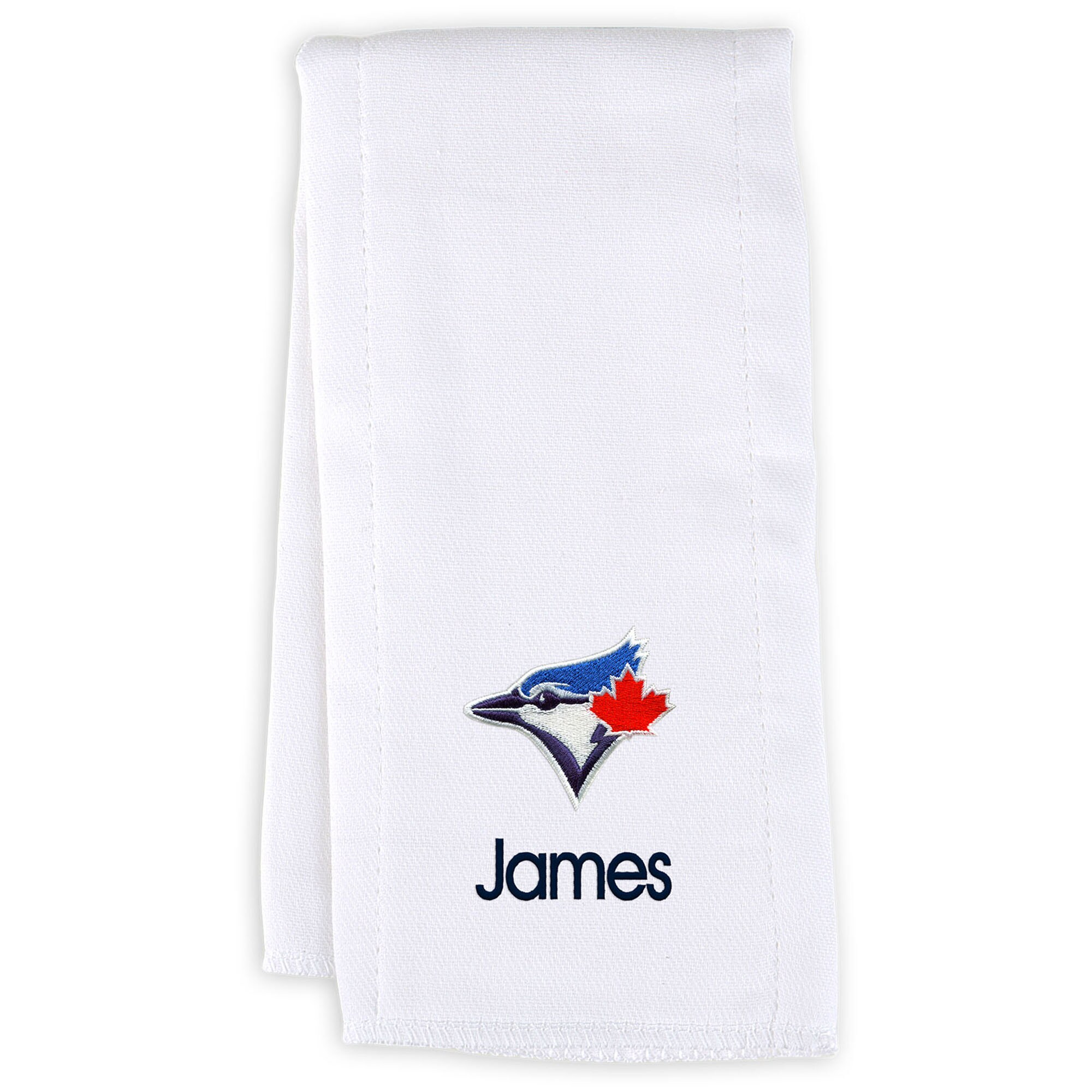 Toronto Blue Jays Infant Personalized Burp Cloth - White