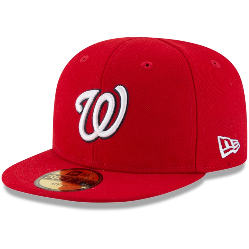 Washington Nationals New Era Infant Authentic Collection On-Field My First 59FIFTY Fitted Hat - Red
