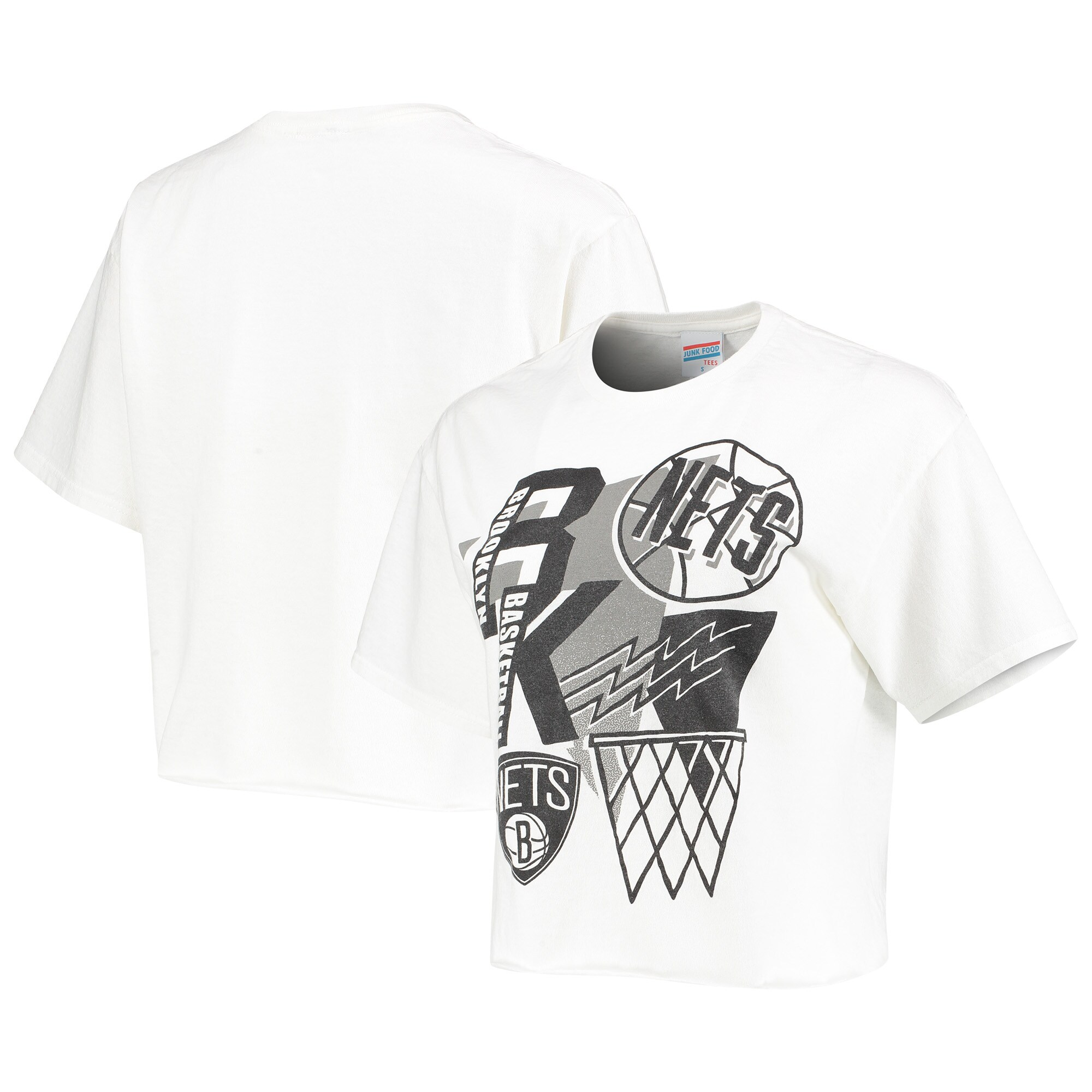 Brooklyn Nets Junk Food Women's Hometown Crop Top T-Shirt - White