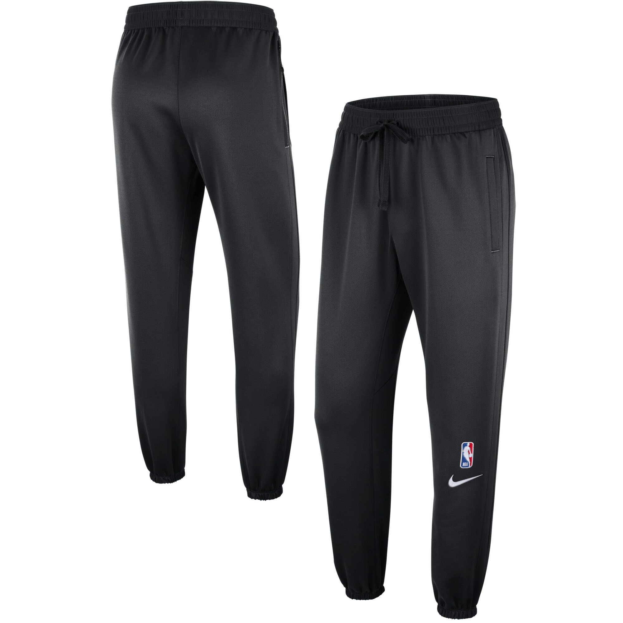 Brooklyn Nets Nike Showtime Logo Performance Pants - Black
