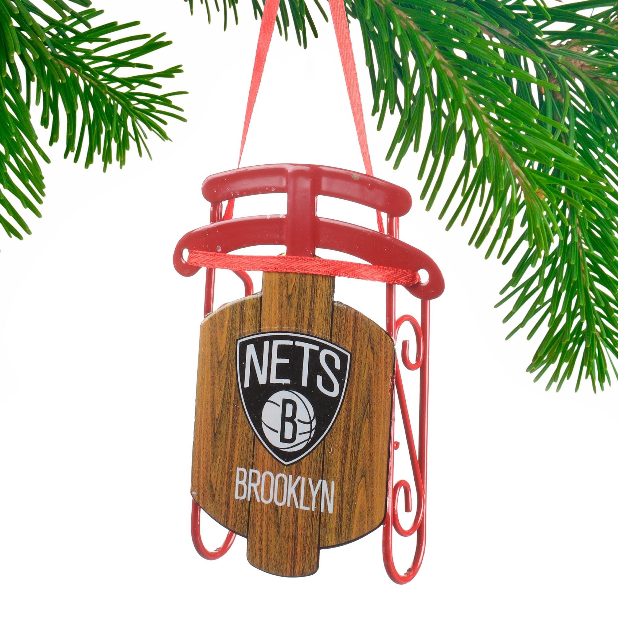 Brooklyn Nets Sled Ornament