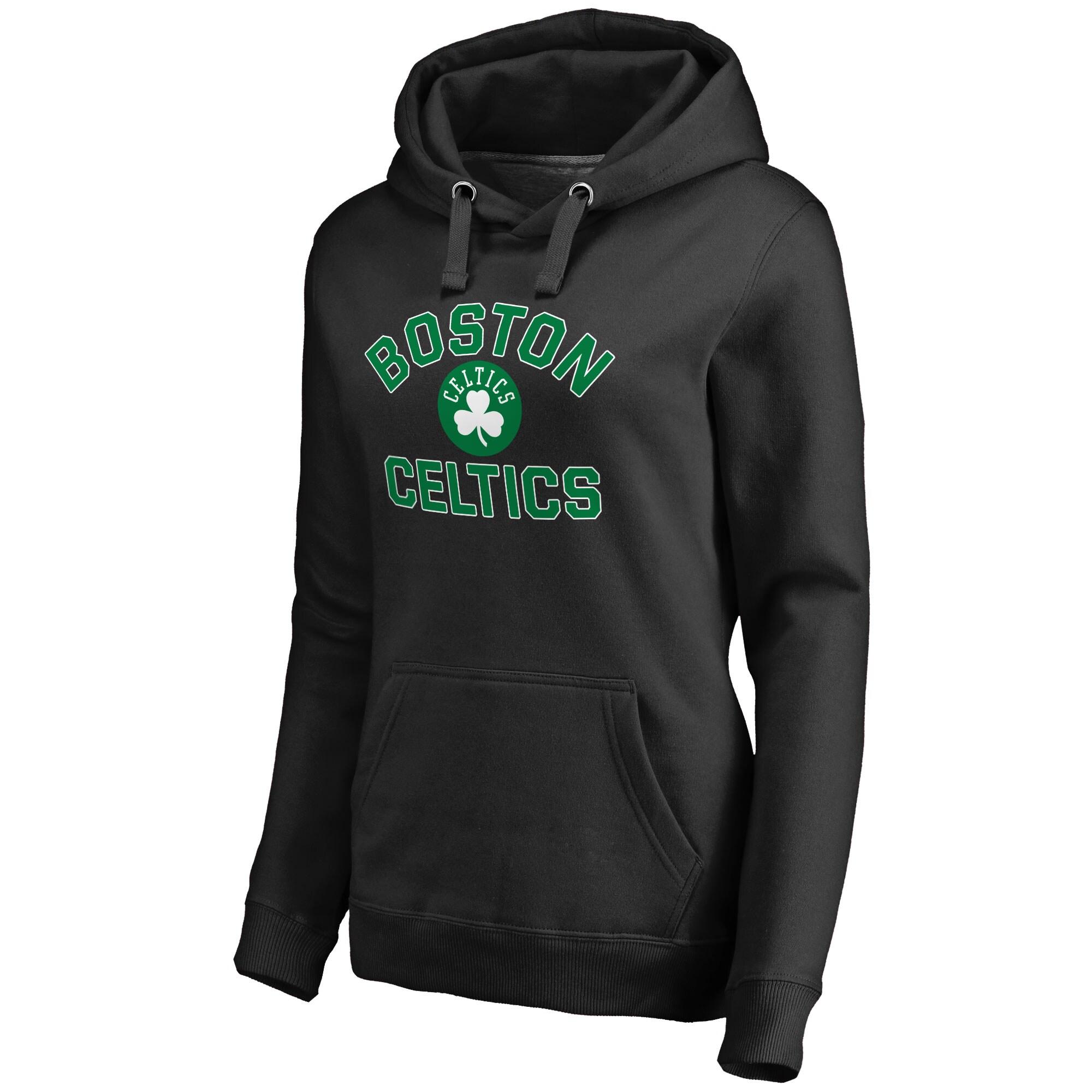 Boston Celtics Women's Overtime Pullover Hoodie - Black