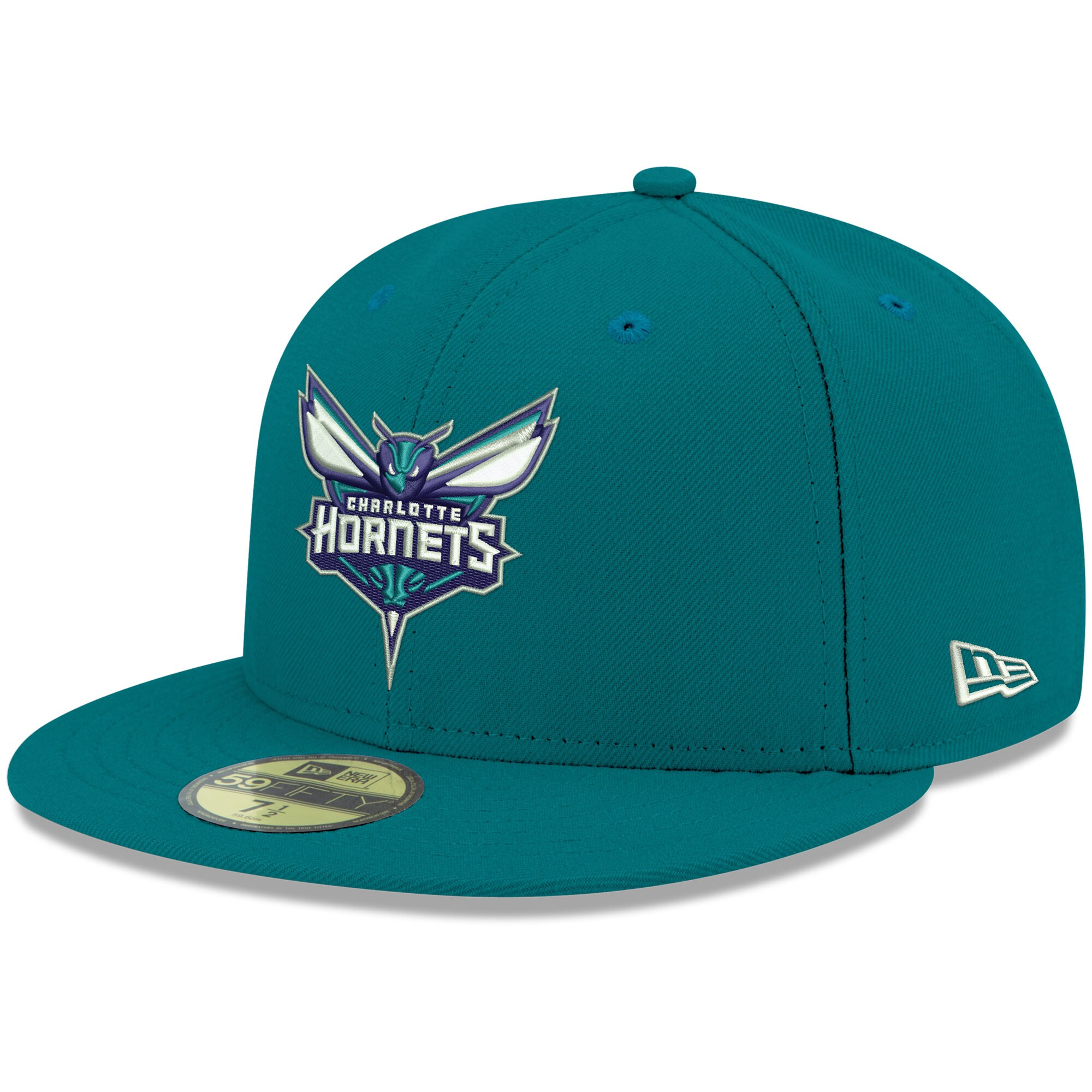 Charlotte Hornets New Era Official Team Color 59FIFTY Fitted Hat - Teal