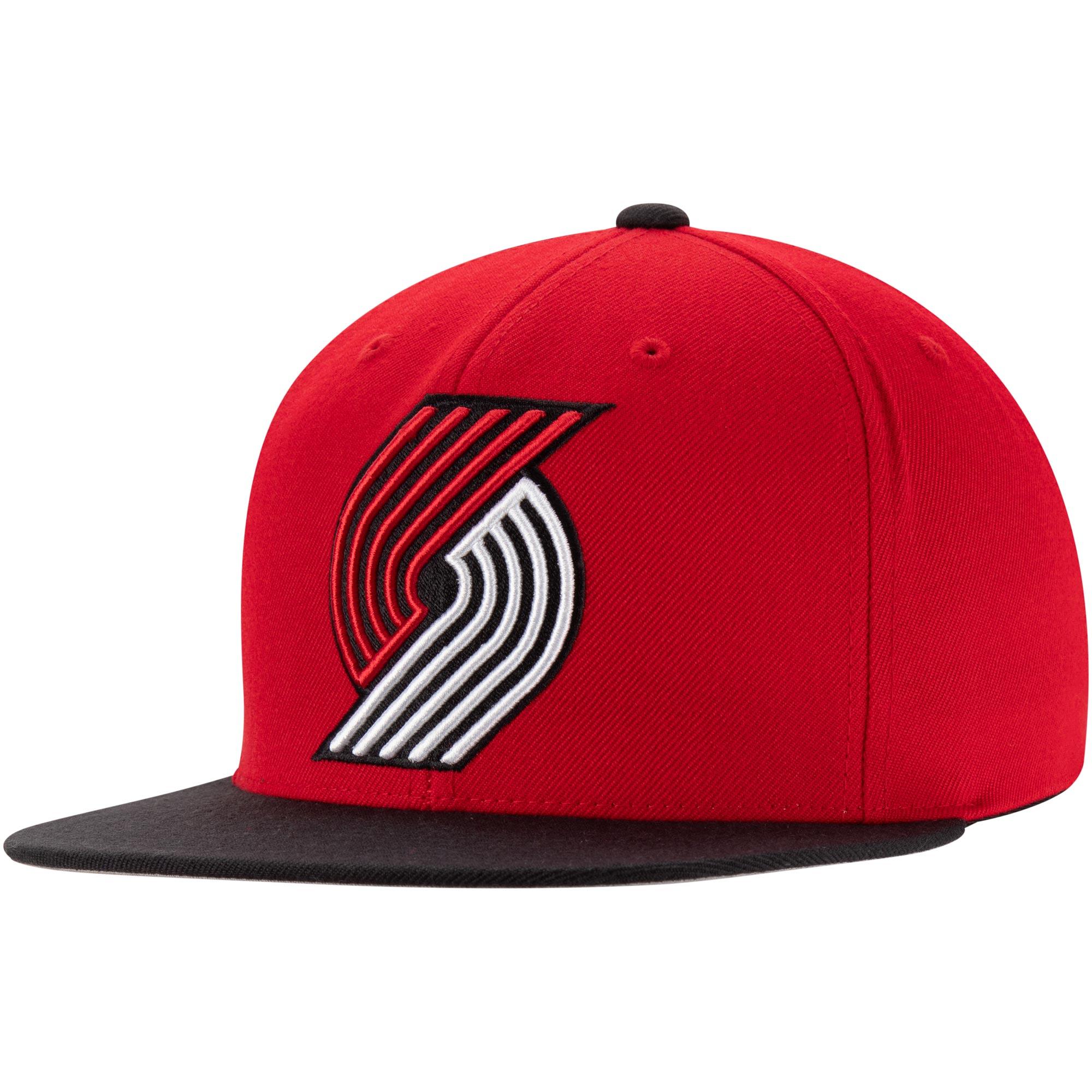 Portland Trail Blazers Mitchell & Ness Two-Tone Wool Snapback Hat - Red/Black