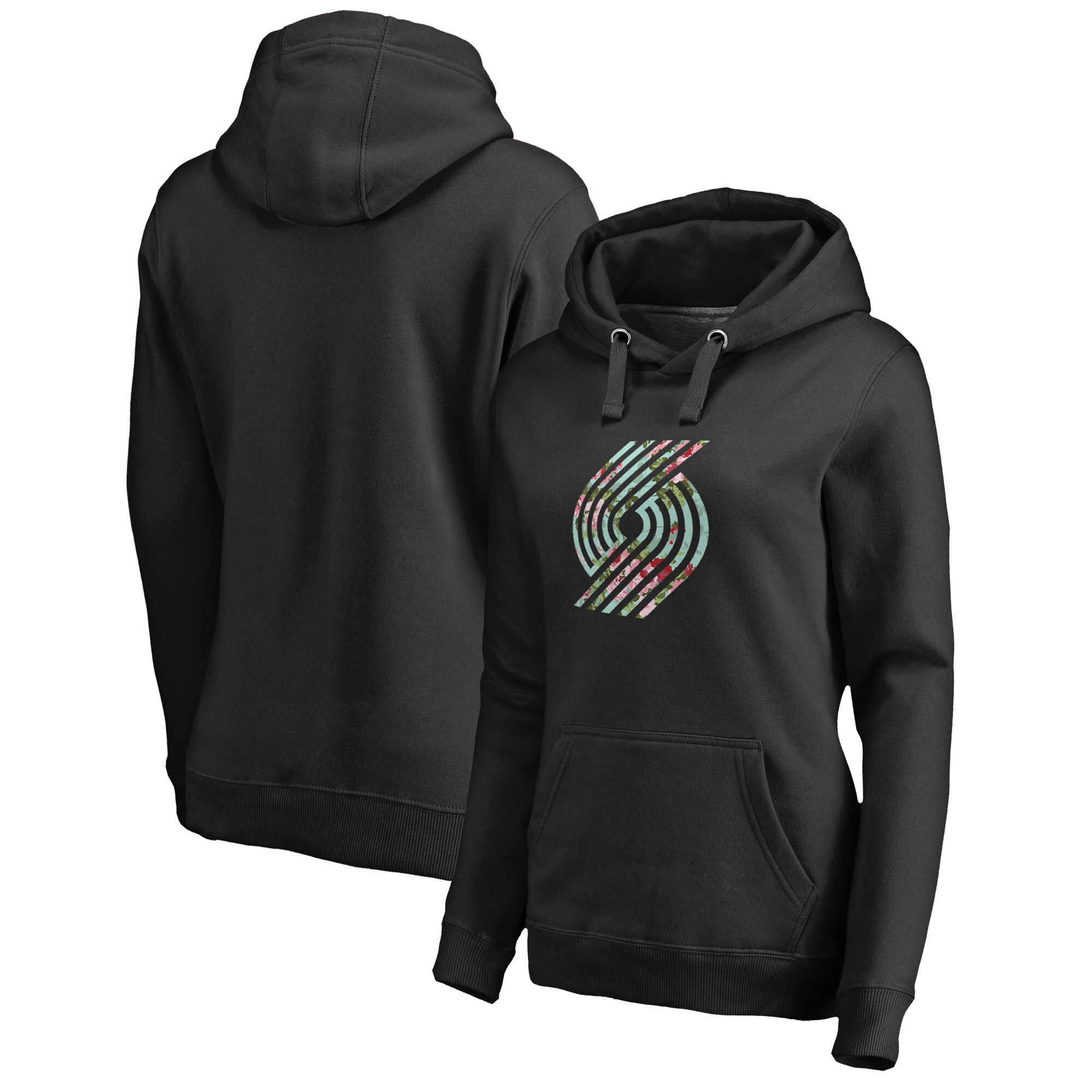 Portland Trail Blazers Fanatics Branded Women's Lovely Pullover Hoodie - Black