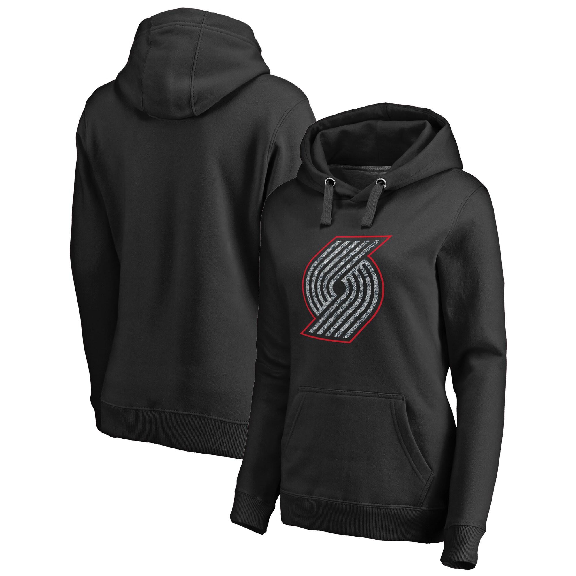 Portland Trail Blazers Fanatics Branded Women's Static Logo Pullover Hoodie - Black