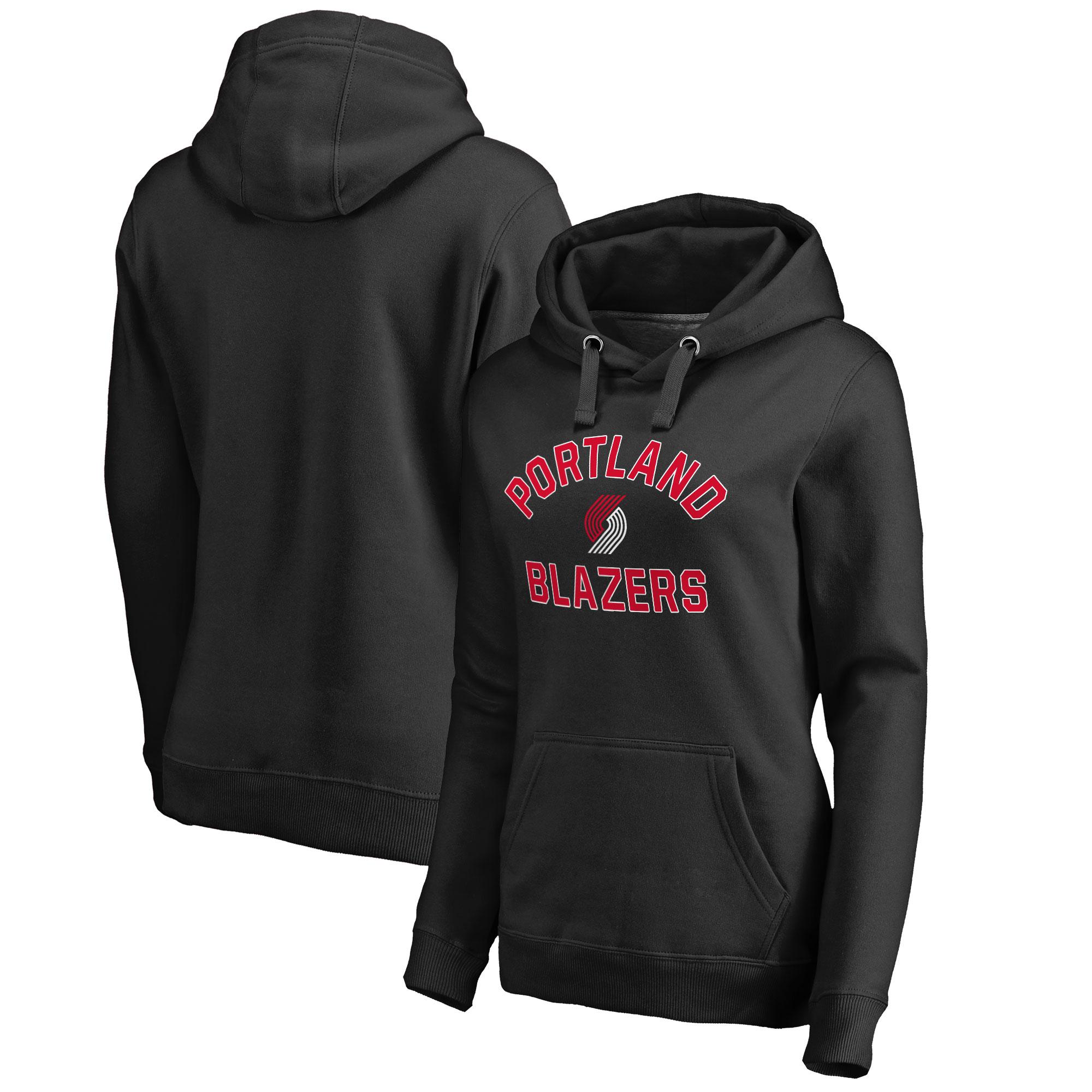 Portland Trail Blazers Women's Overtime Pullover Hoodie - Black