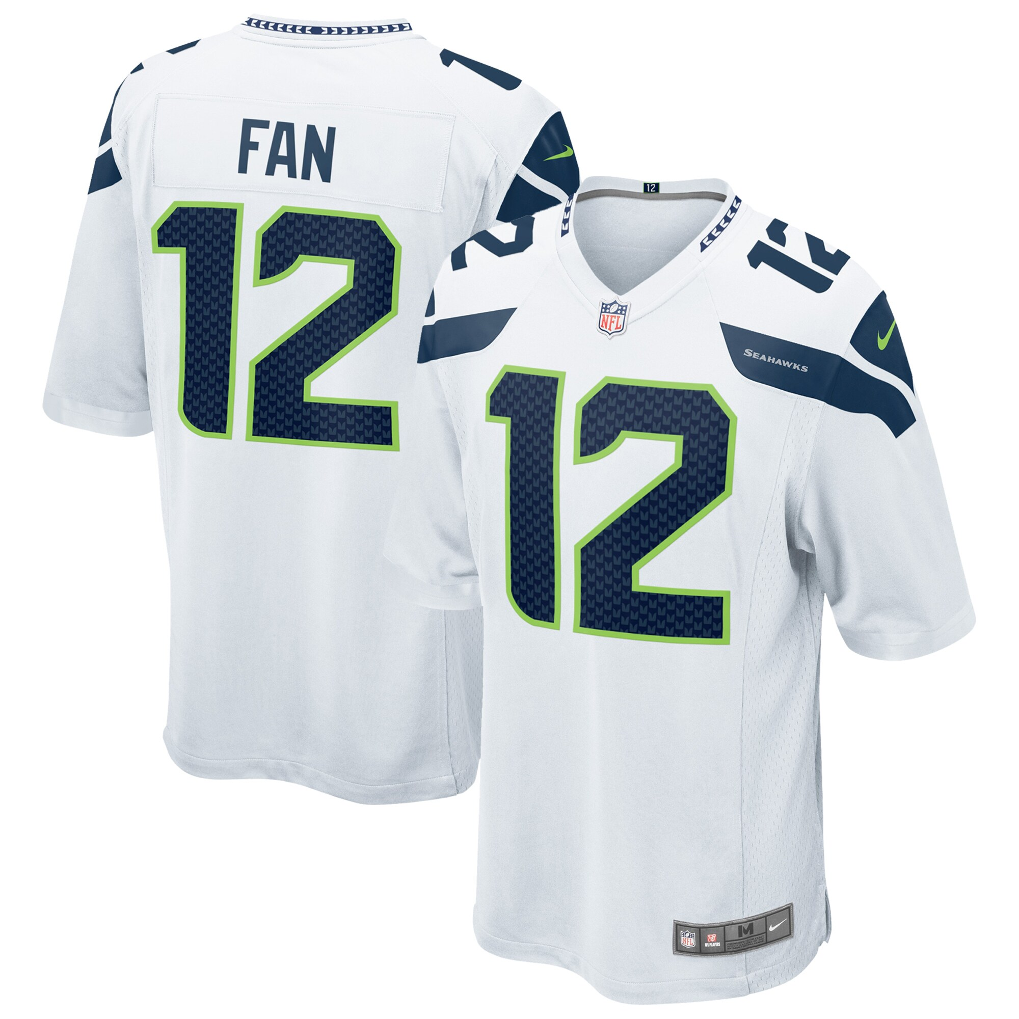12s Seattle Seahawks Nike Youth Game Jersey - White