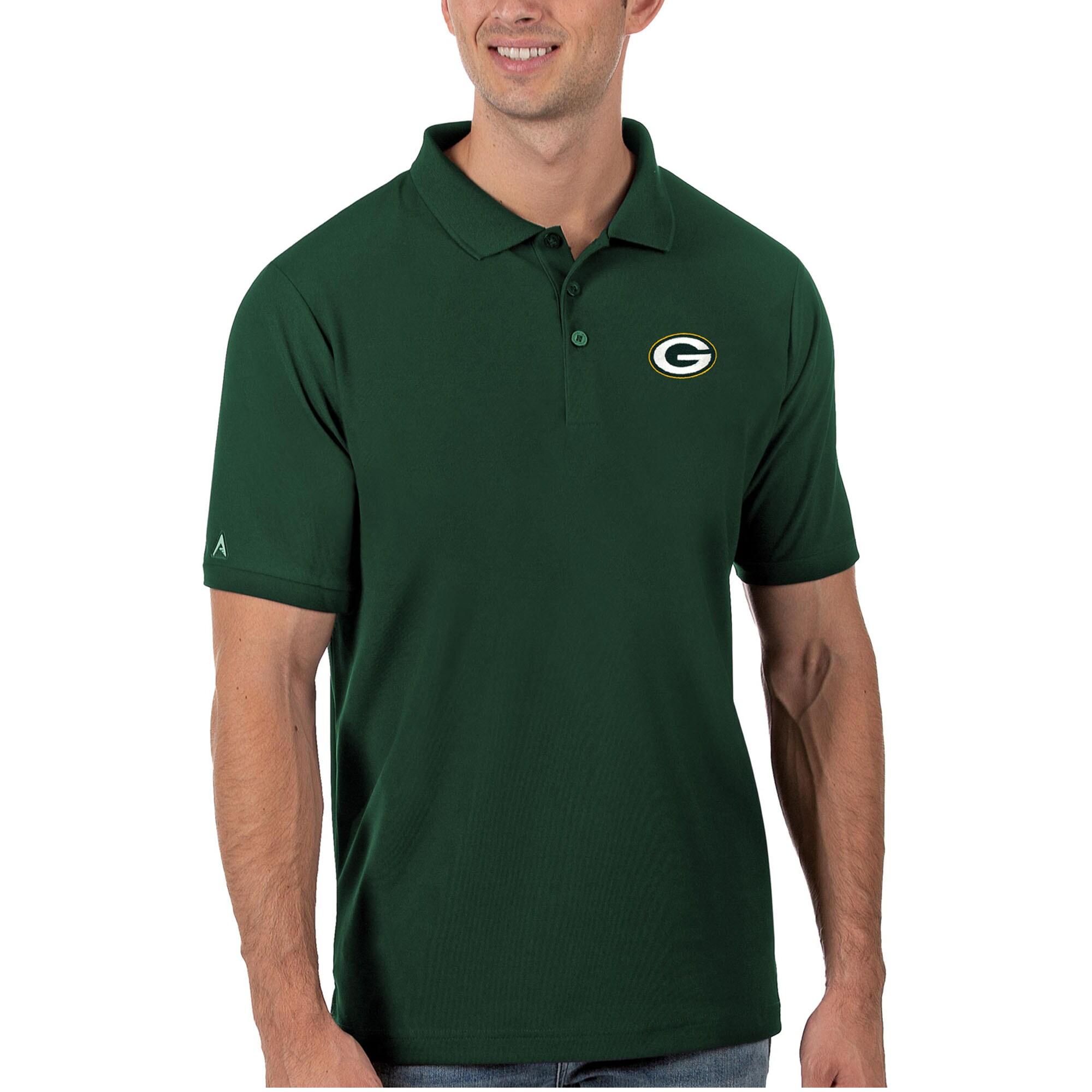 Green Bay Packers Antigua Legacy Pique Polo - Green