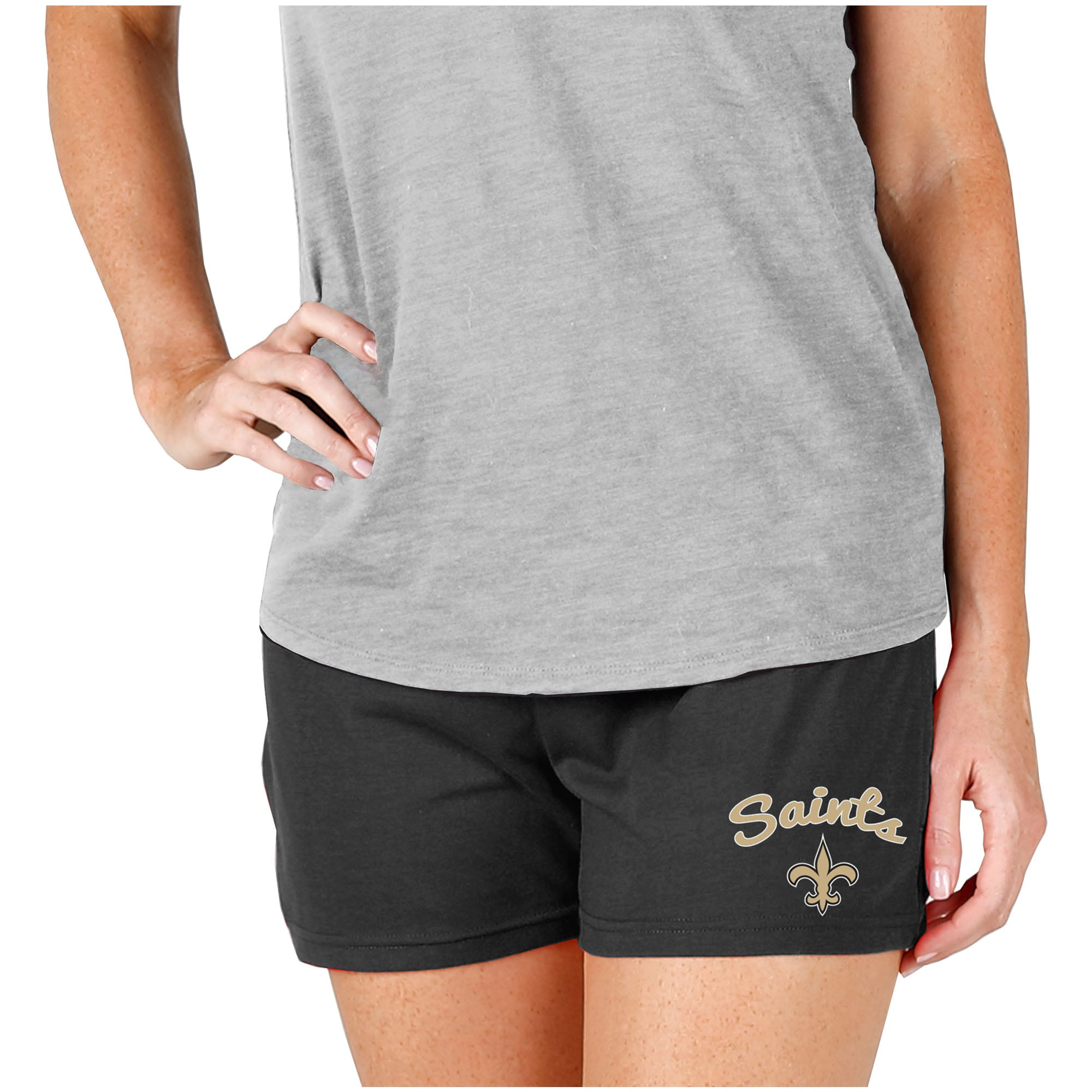 New Orleans Saints Concepts Sport Women's Knit Shorts - Charcoal
