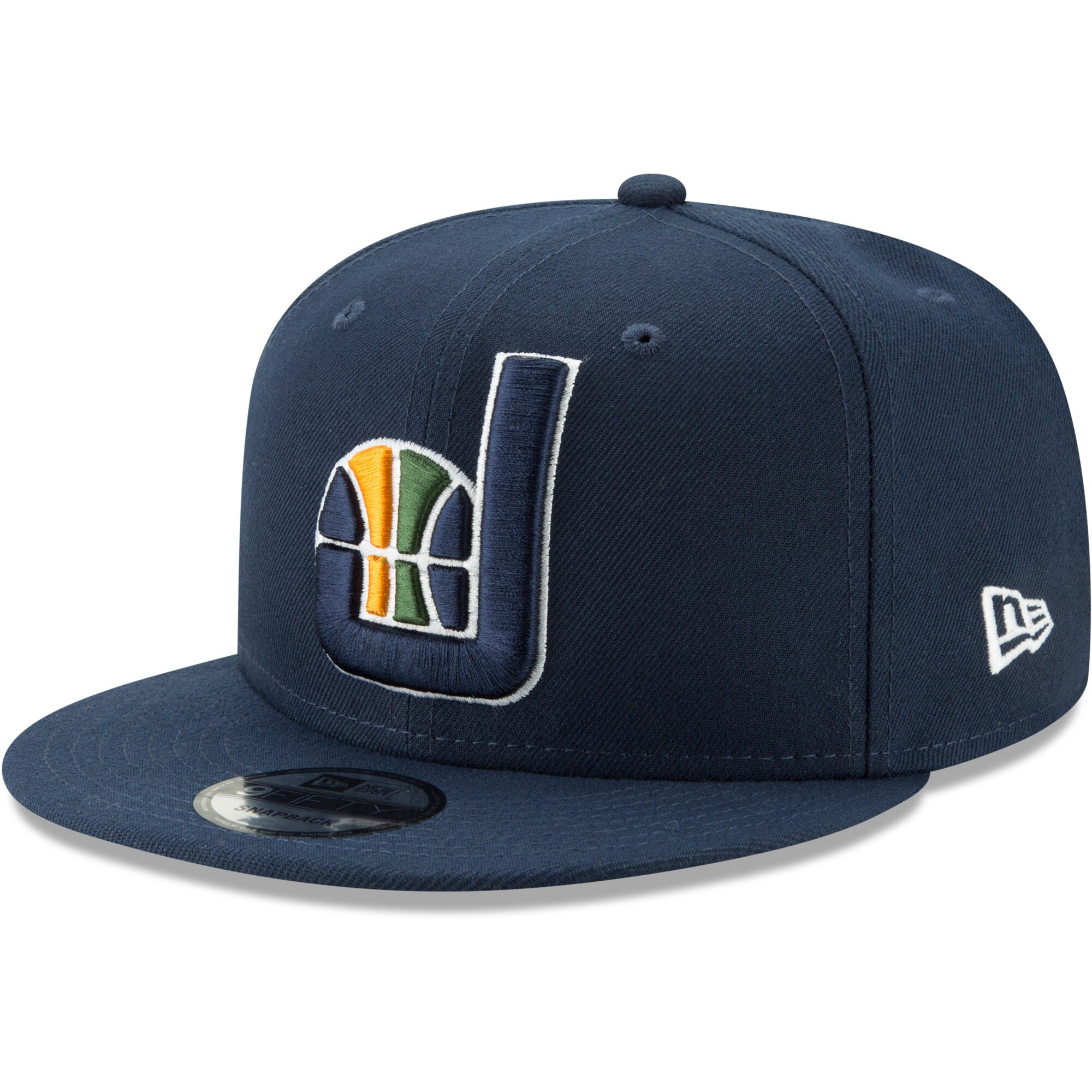 Utah Jazz New Era Back Half 9FIFTY Adjustable Hat - Navy