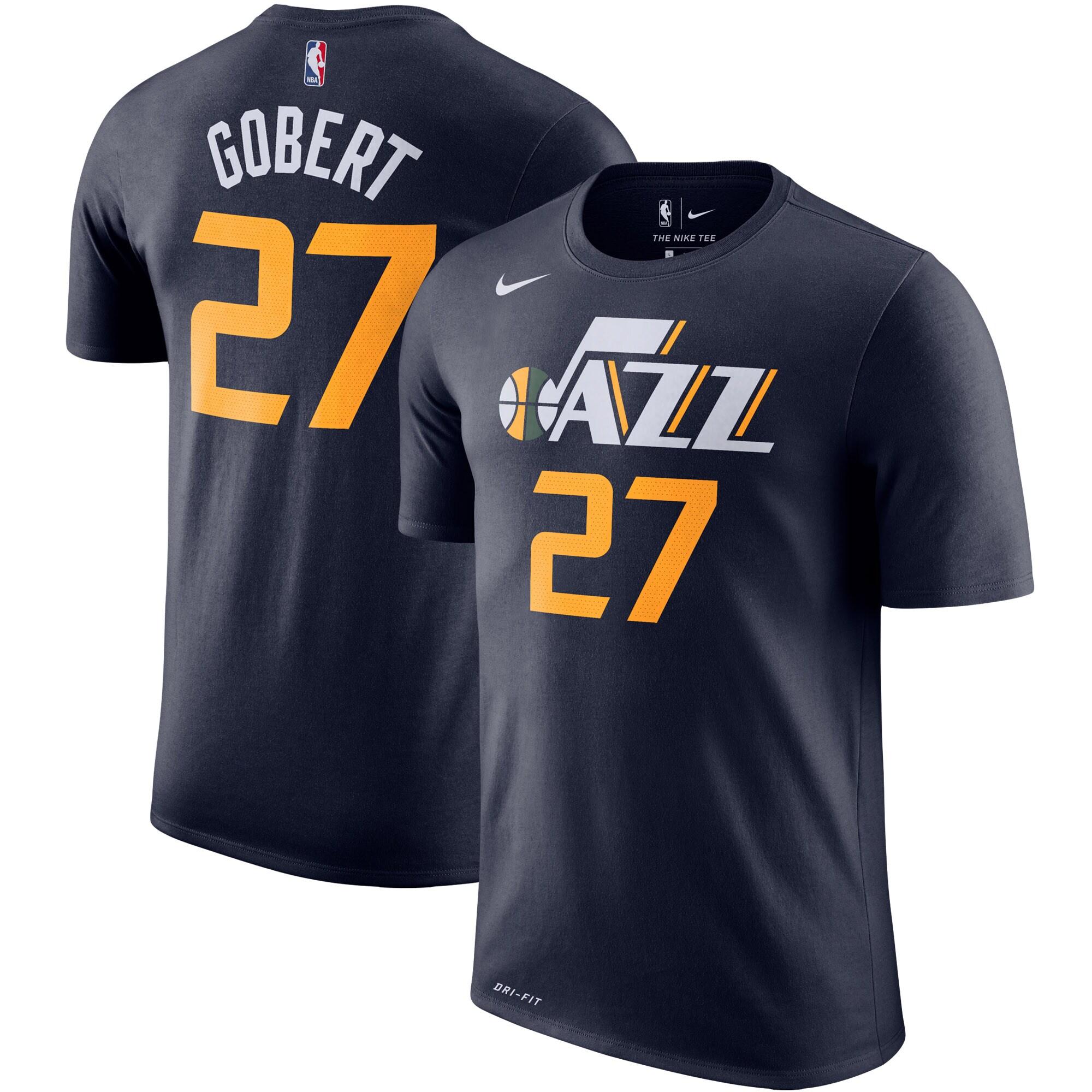 Rudy Gobert Utah Jazz Nike Player Name & Number Performance T-Shirt - Navy