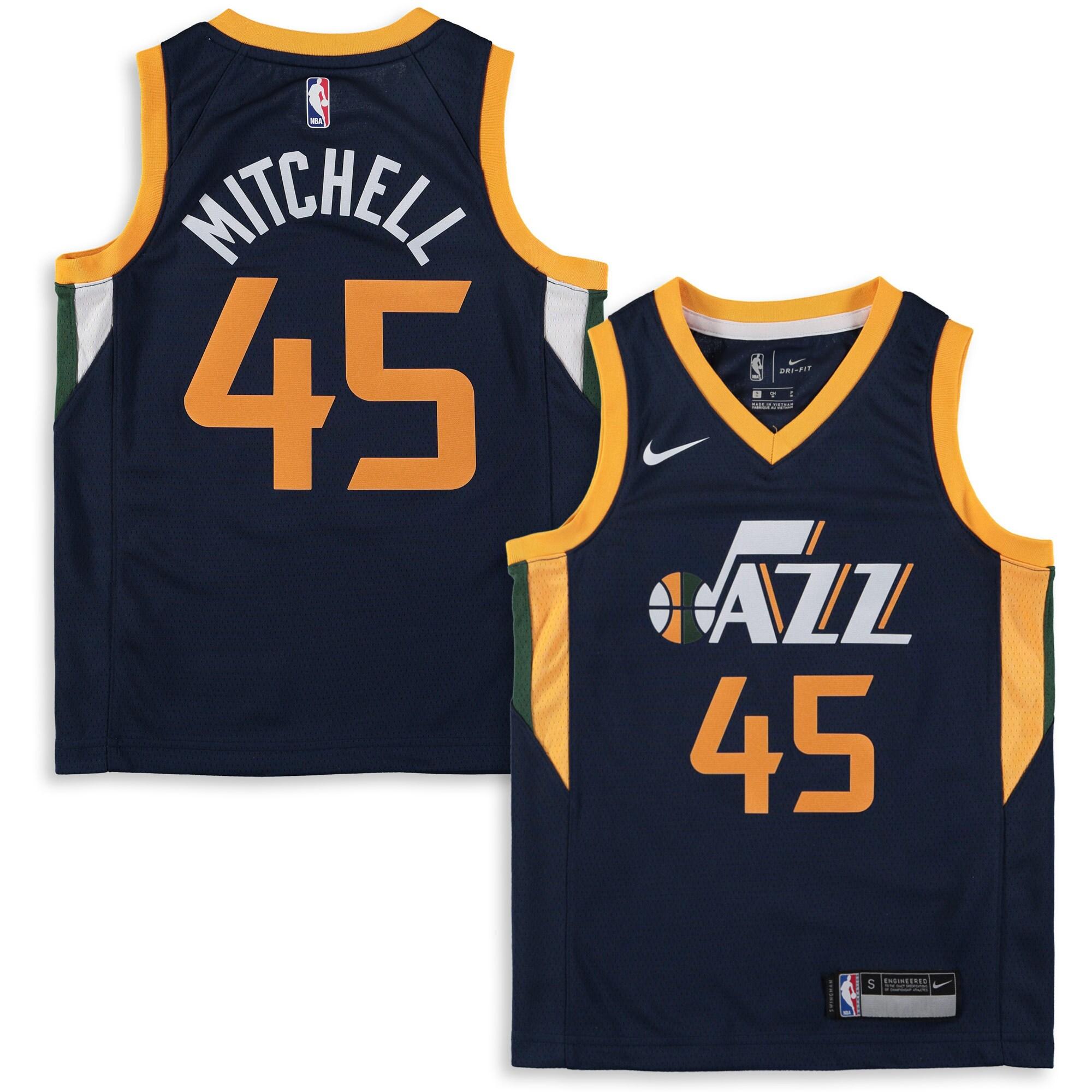 Donovan Mitchell Utah Jazz Nike Youth Swingman Jersey - Navy