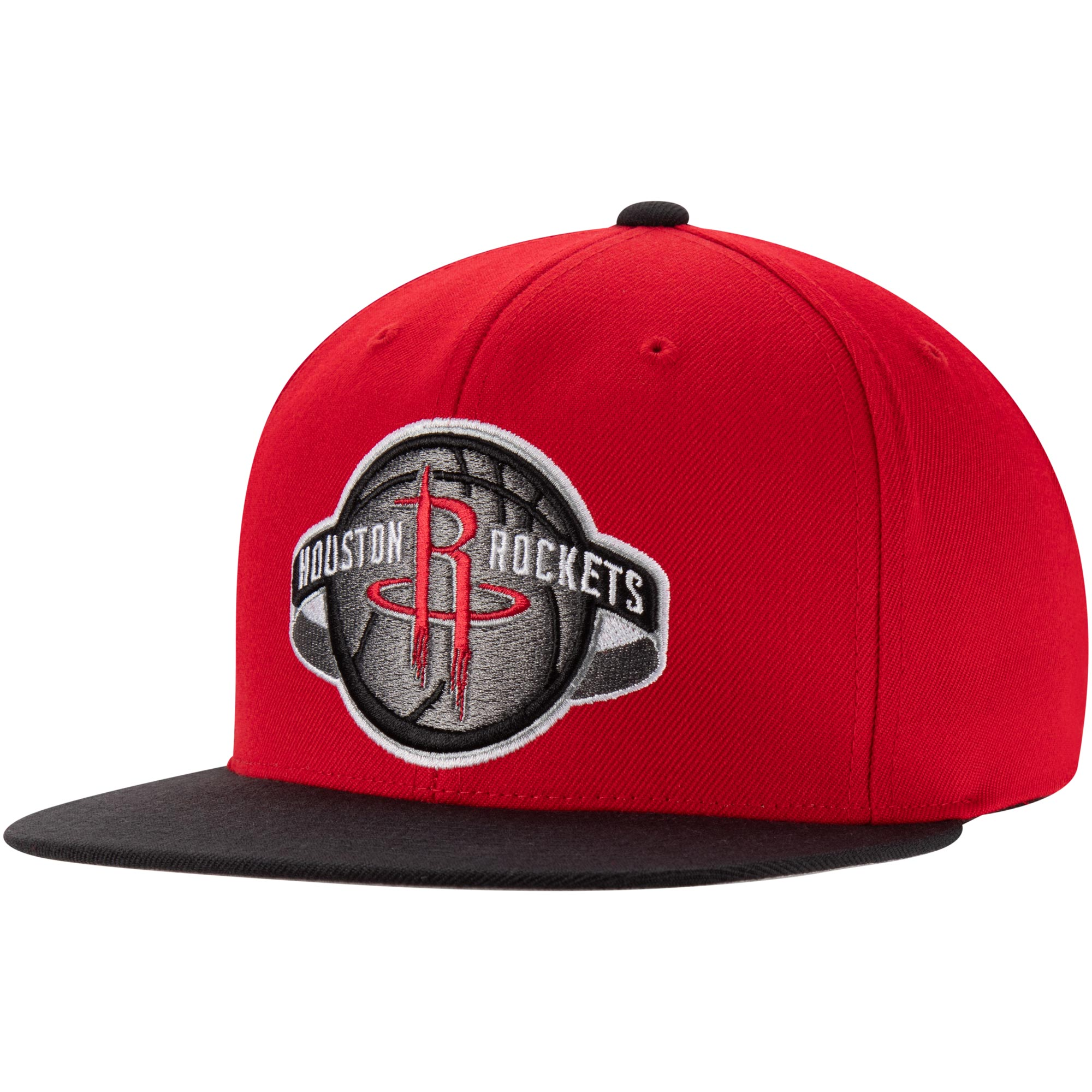 Houston Rockets Mitchell & Ness Two-Tone Wool Snapback Hat - Red/Black