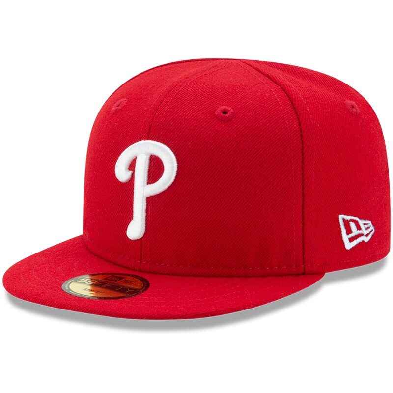 Philadelphia Phillies New Era Infant Authentic Collection On-Field My First 59FIFTY Fitted Hat - Red