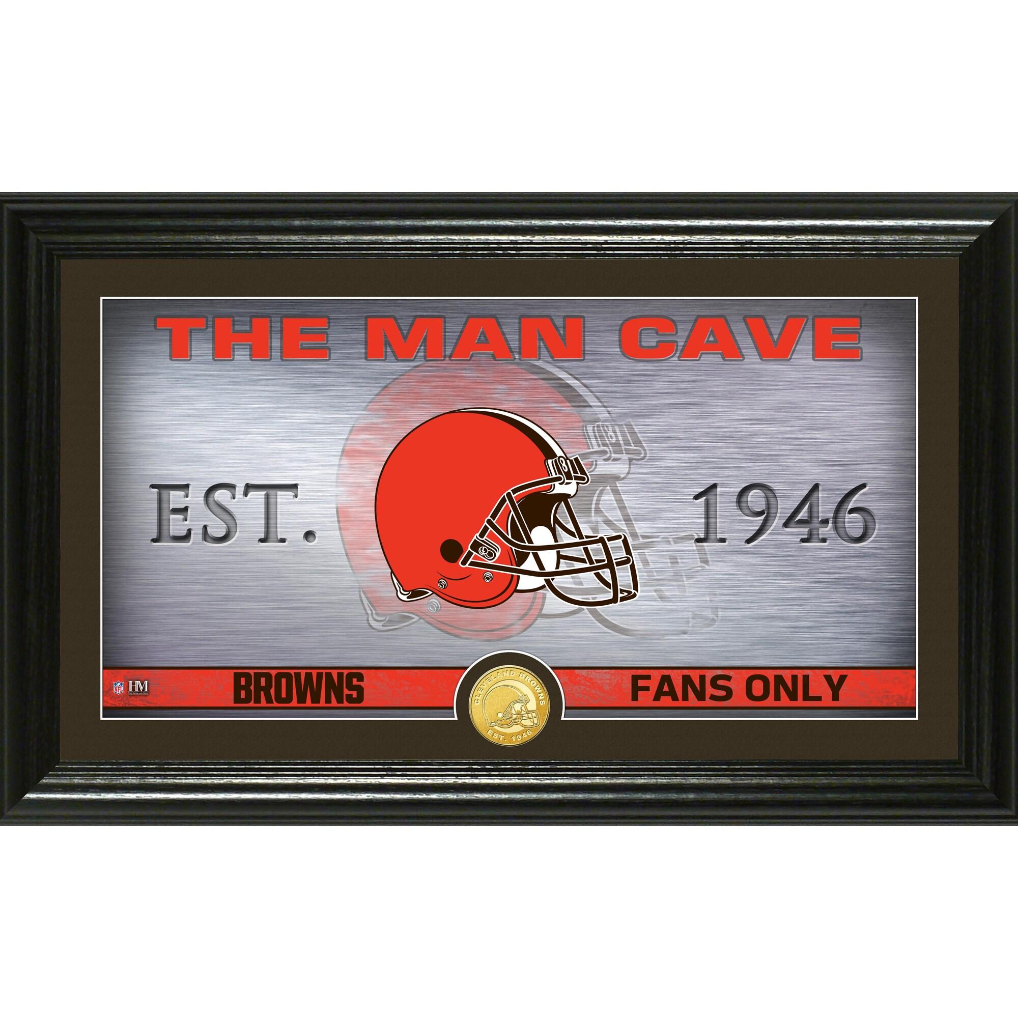 "Cleveland Browns Highland Mint 12"" x 20"" Man Cave Photo Mint"