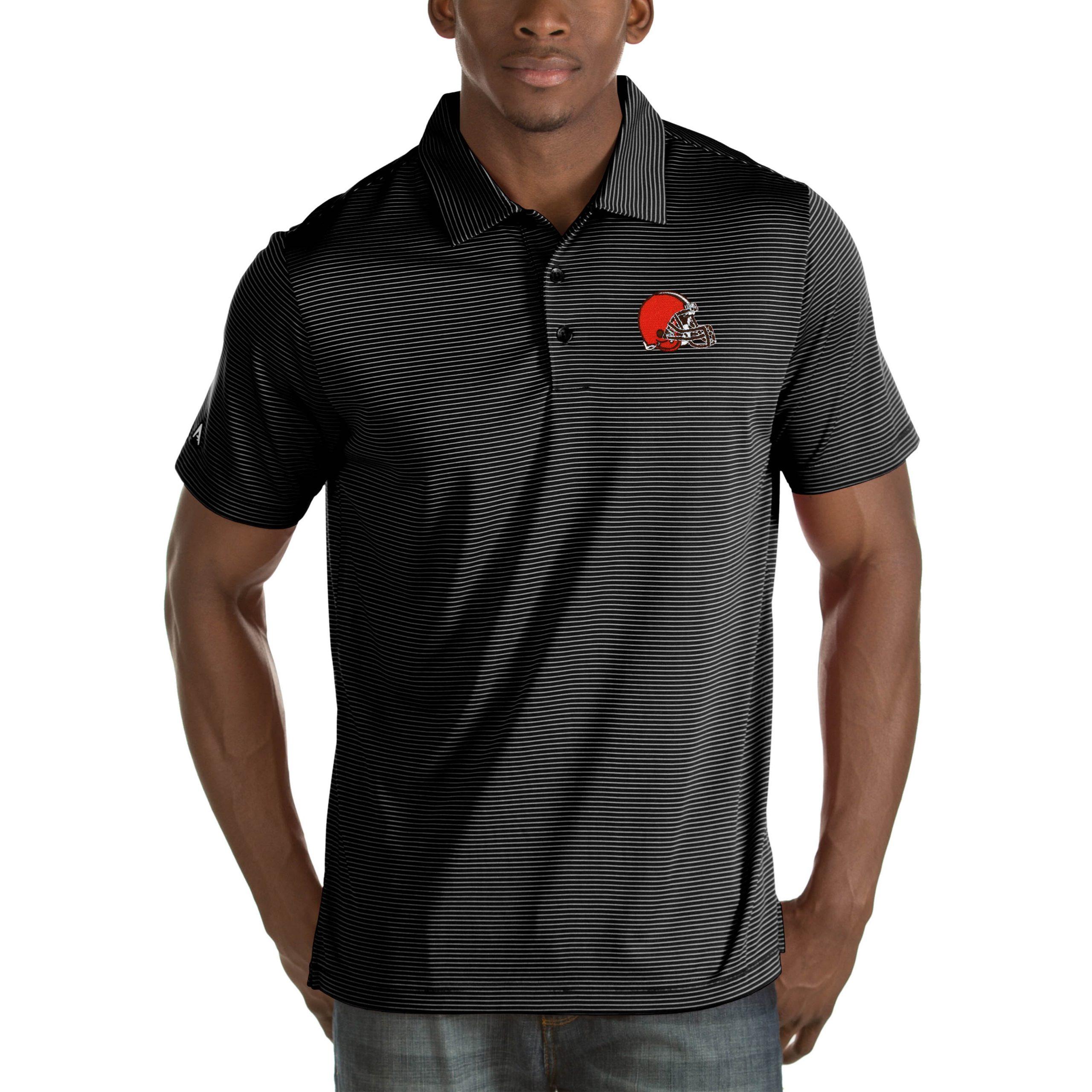 Cleveland Browns Antigua Quest Big & Tall Polo - Black