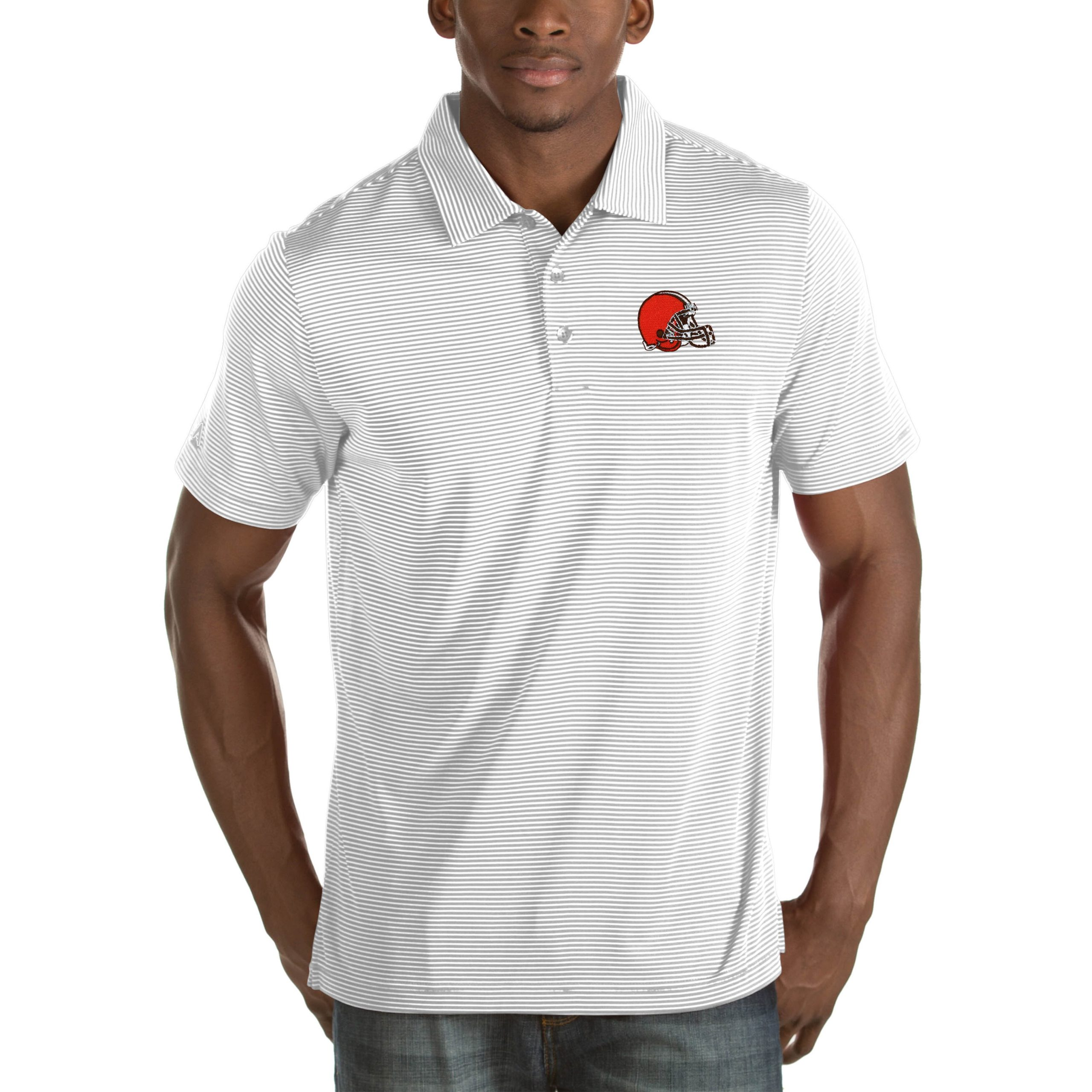 Cleveland Browns Antigua Quest Big & Tall Polo - White