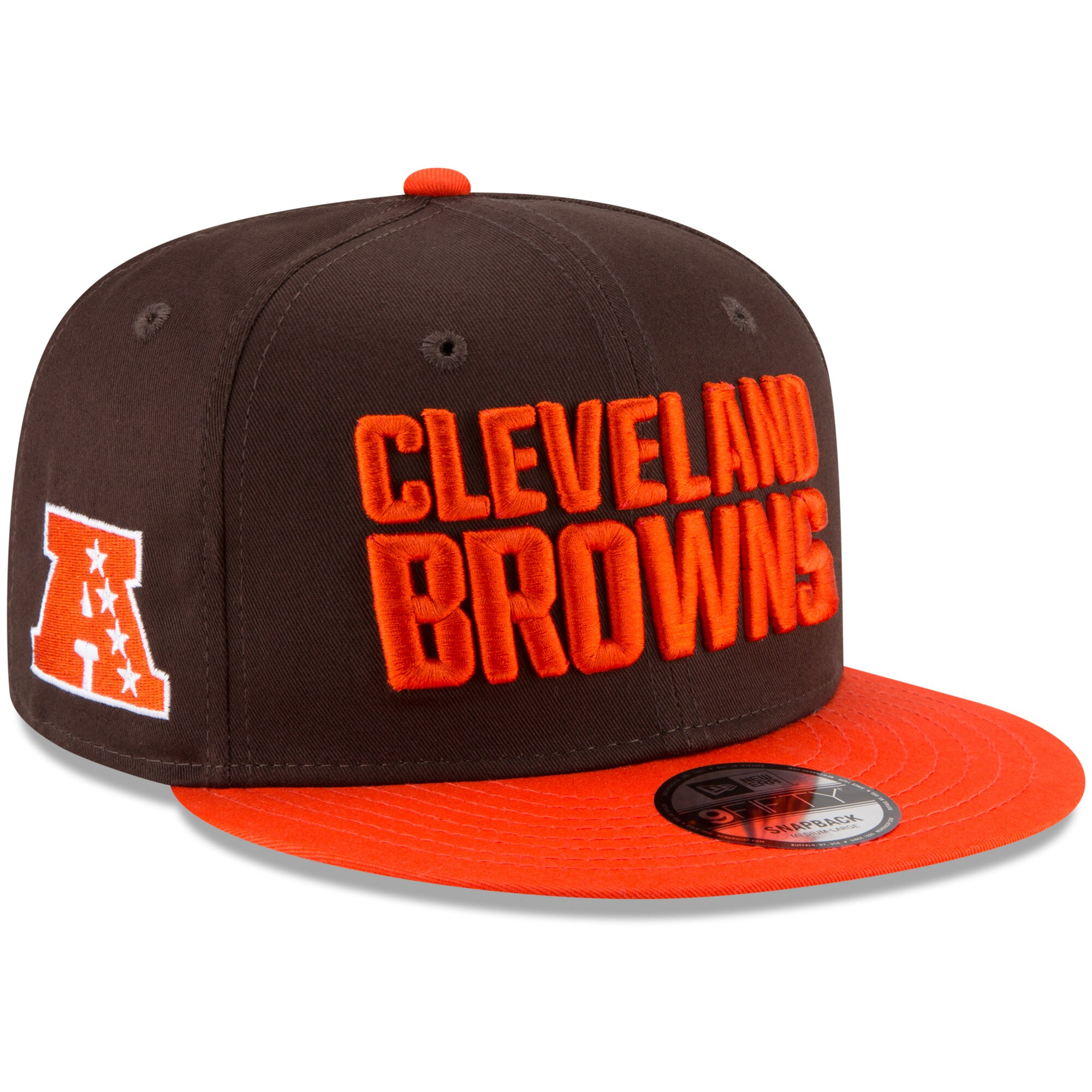 Cleveland Browns New Era Youth Baycik 9FIFTY Snapback Adjustable Hat - Brown/Orange