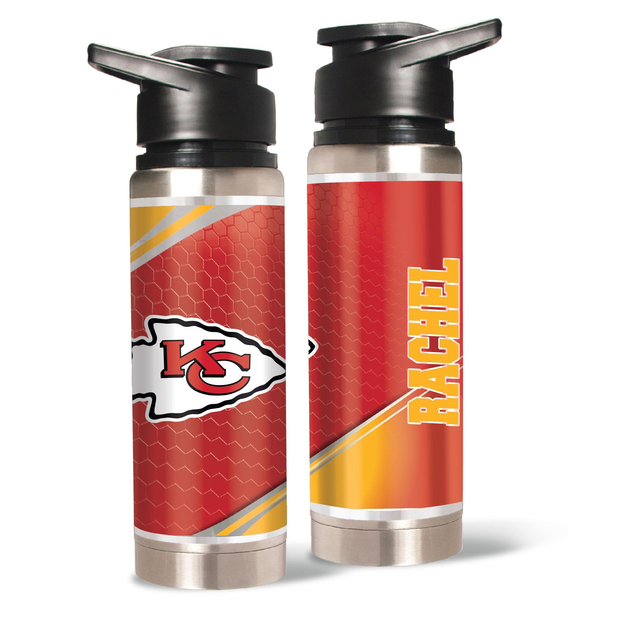 Kansas City Chiefs 20oz. Personalized Water Bottle