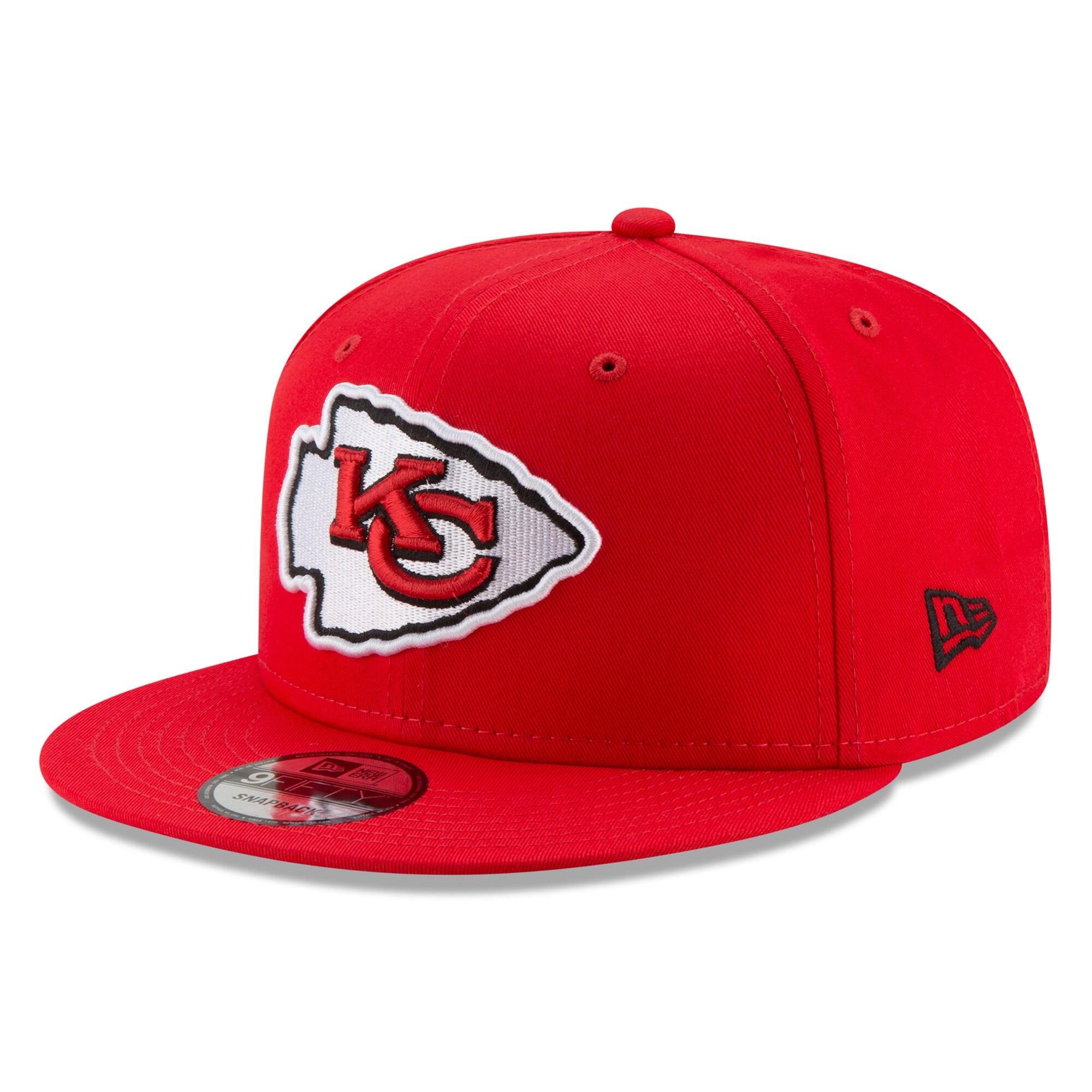 Kansas City Chiefs New Era Basic 9FIFTY Adjustable Snapback Hat - Red