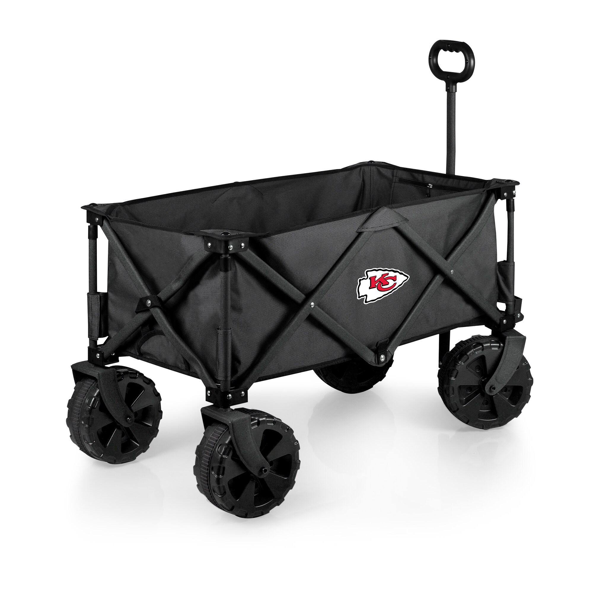 Kansas City Chiefs Adventure Wagon Elite All-Terrain Folding Utility Wagon - Charcoal