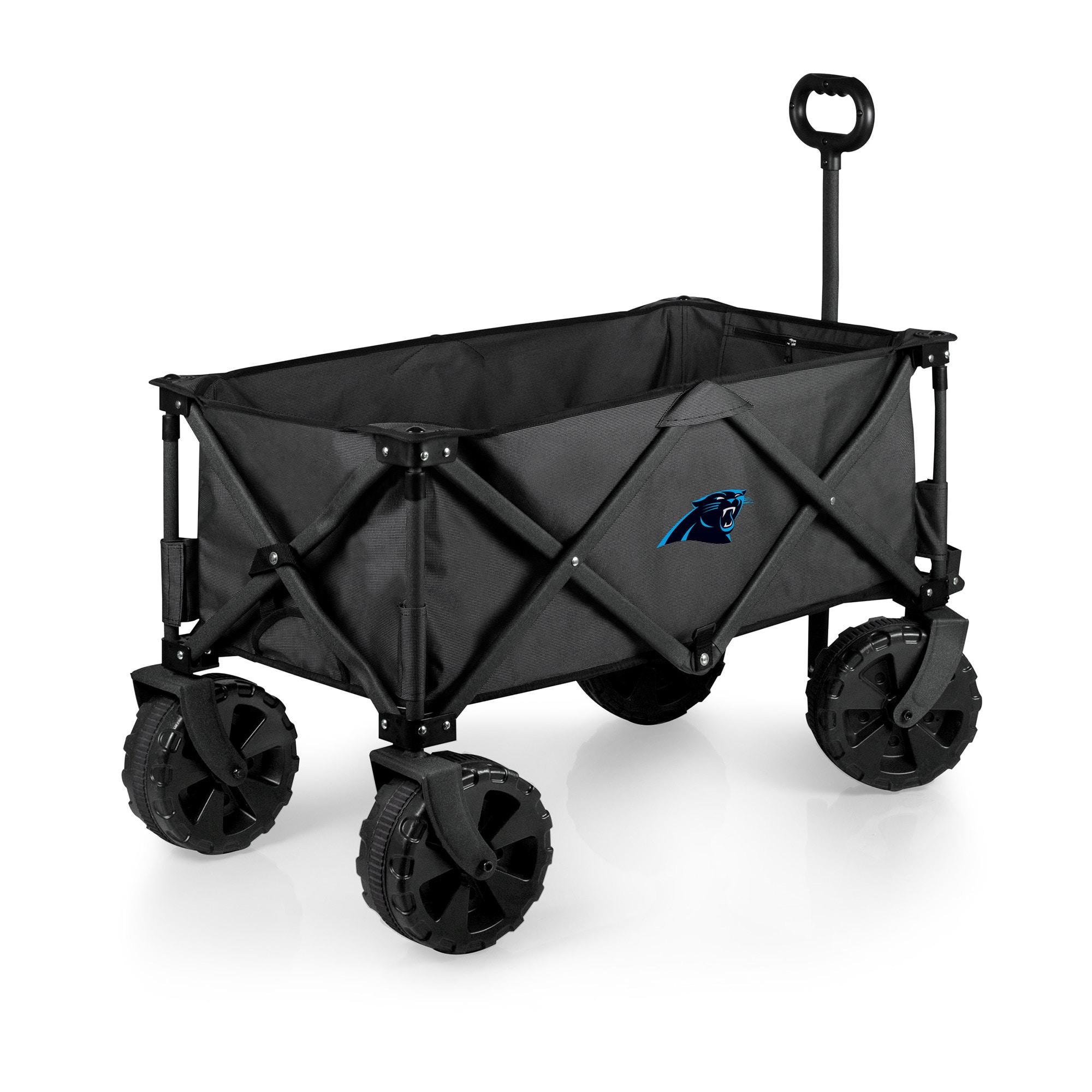 Carolina Panthers Adventure Wagon Elite All-Terrain Folding Utility Wagon - Charcoal