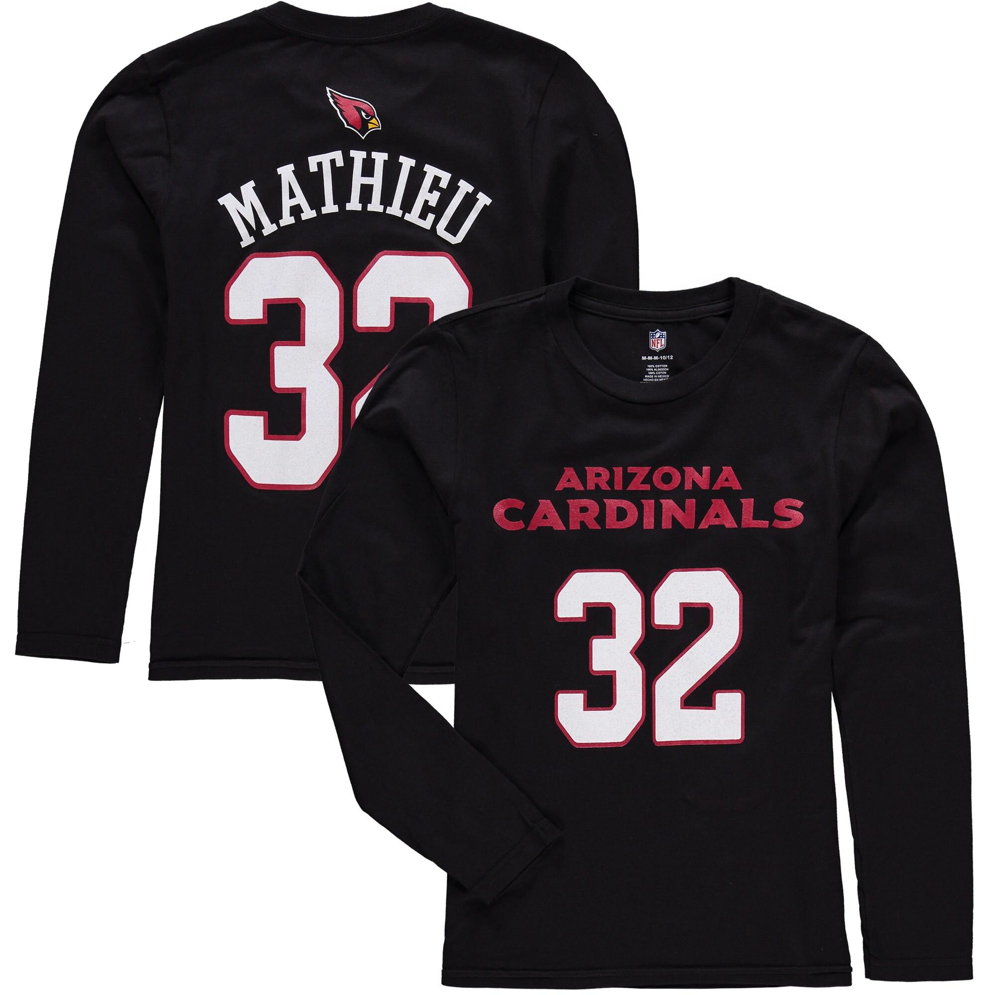 Tyrann Mathieu Arizona Cardinals Mainliner Name & Number Long Sleeve T-Shirt - Black