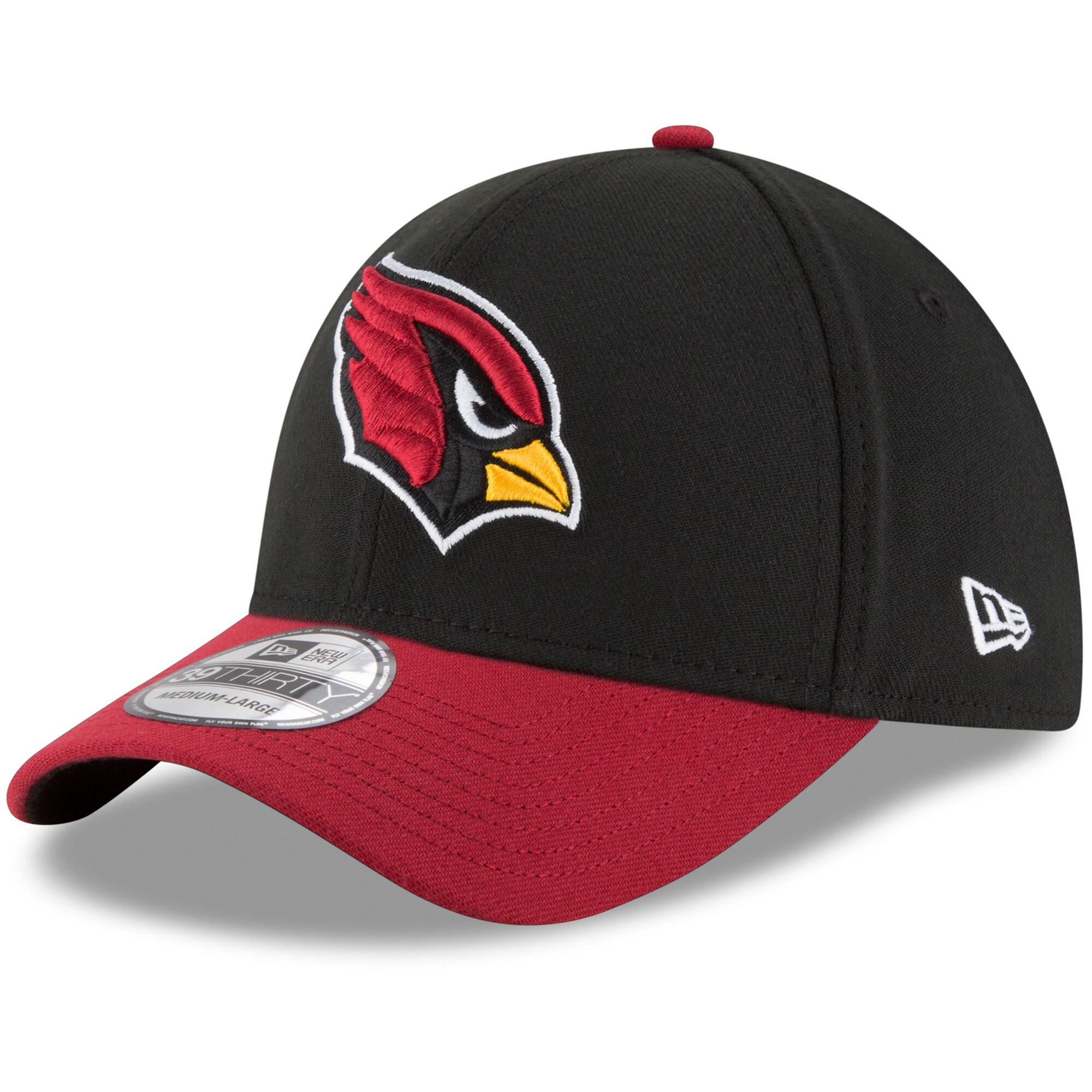 Arizona Cardinals New Era Team Classic Two-Tone 39THIRTY Flex Hat - Black/Cardinal