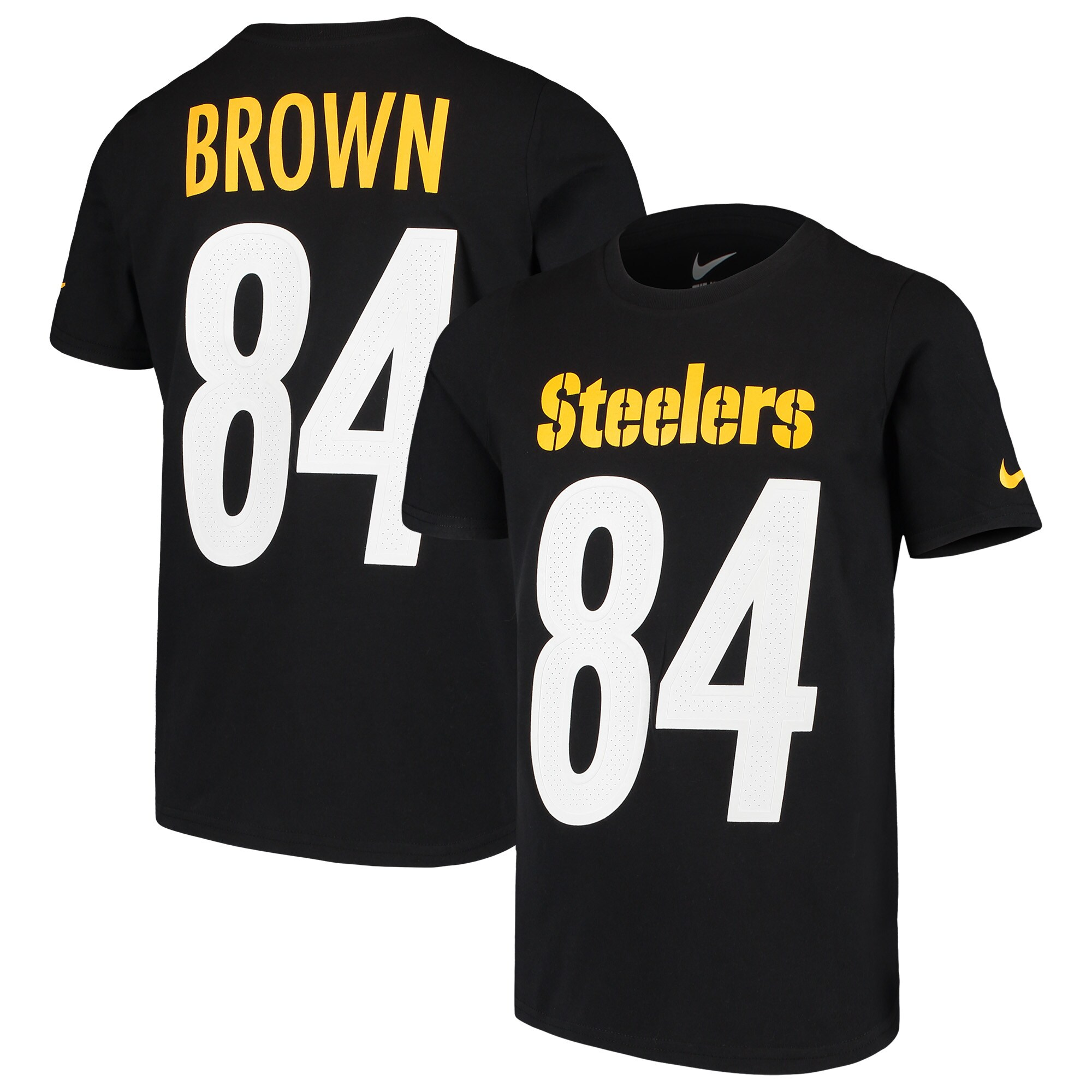 Antonio Brown Pittsburgh Steelers Nike Youth Player Pride 3.0 Name & Number T-Shirt - Black