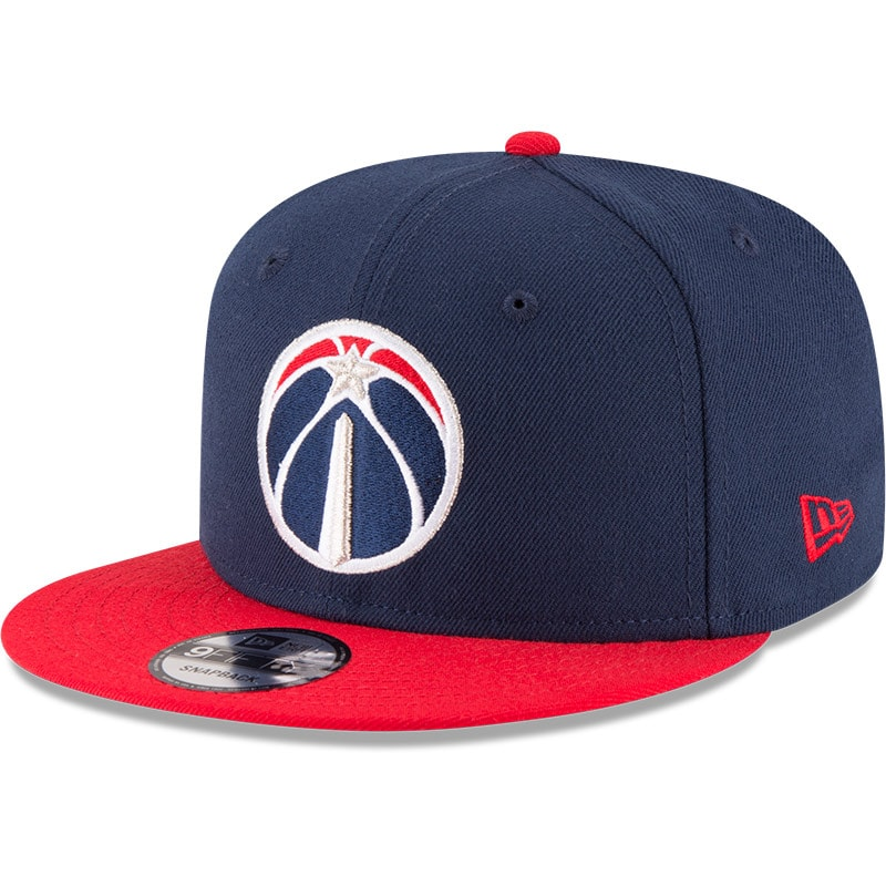 Washington Wizards New Era 2-Tone 9FIFTY Adjustable Snapback Hat - Navy/Red