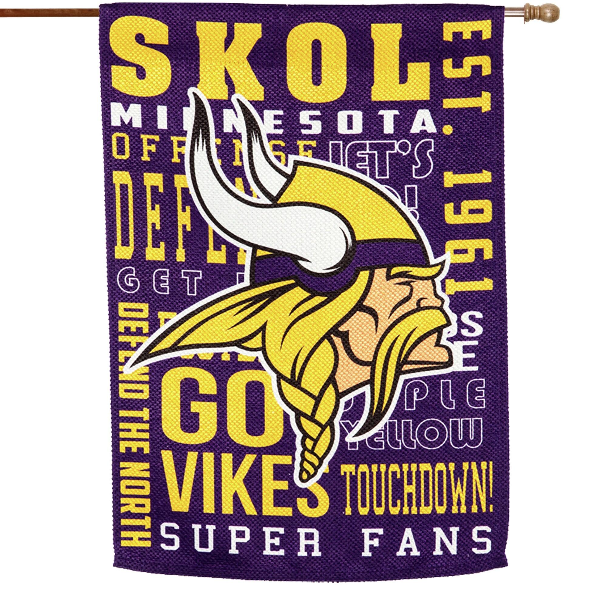 Minnesota Vikings 28'' x 30'' Fan Favorite Embossed House Flag