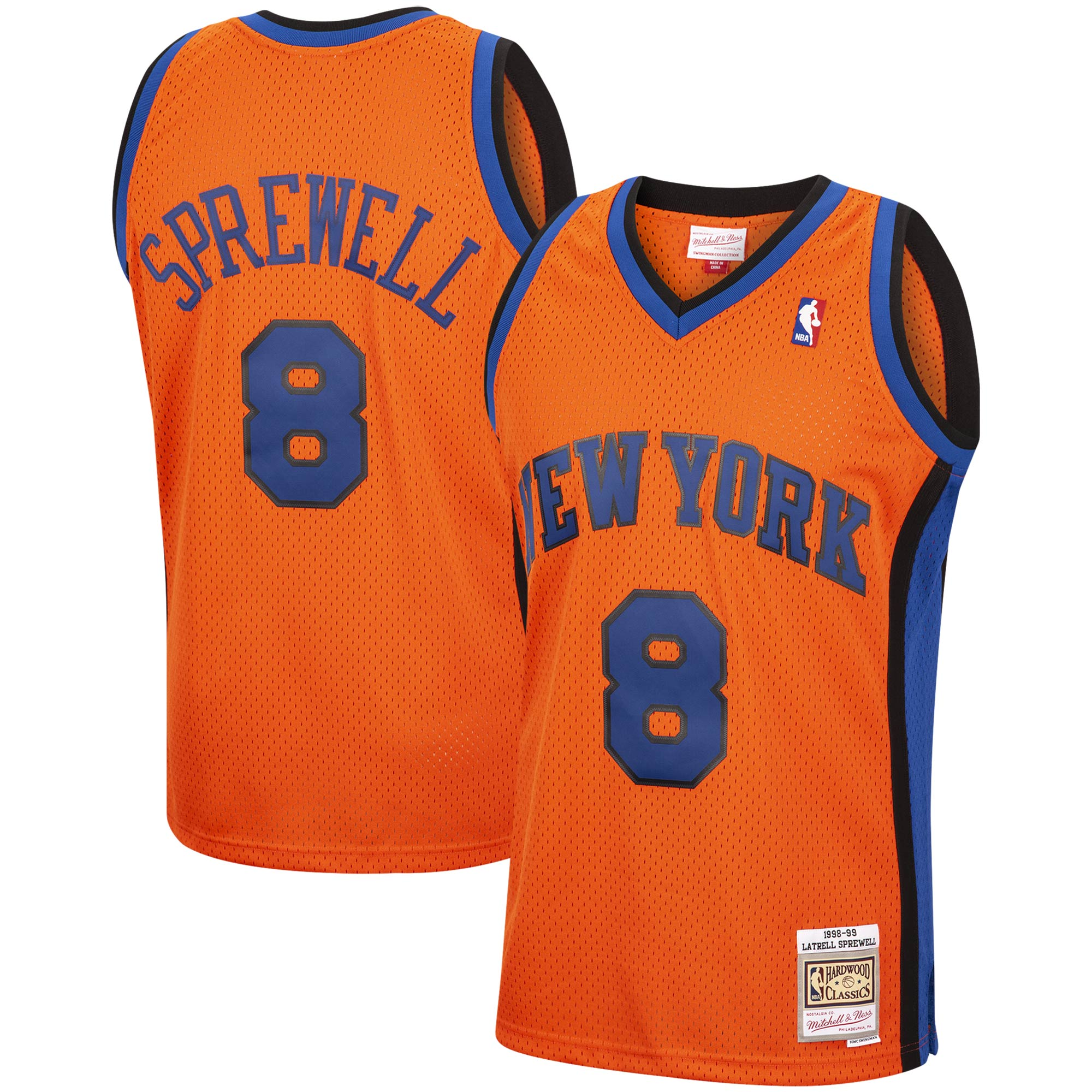 Latrell Sprewell New York Knicks Mitchell & Ness 1998-99 Hardwood Classics Reload Swingman Jersey - Orange