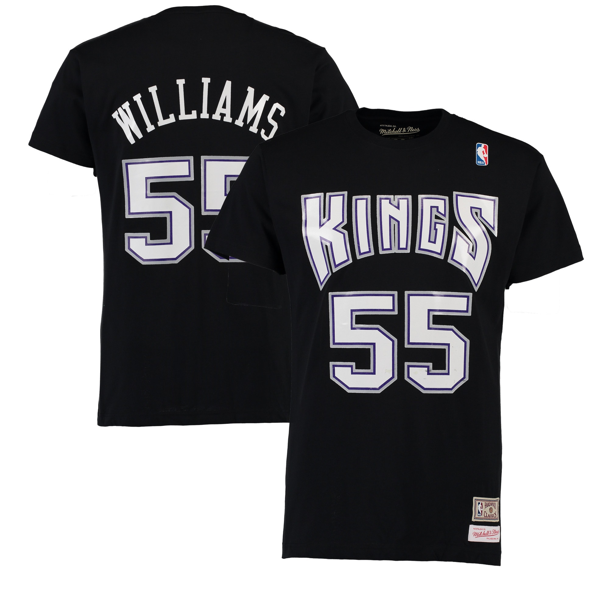 Jason Williams Sacramento Kings Mitchell & Ness Hardwood Classics Name & Number T-Shirt - Black