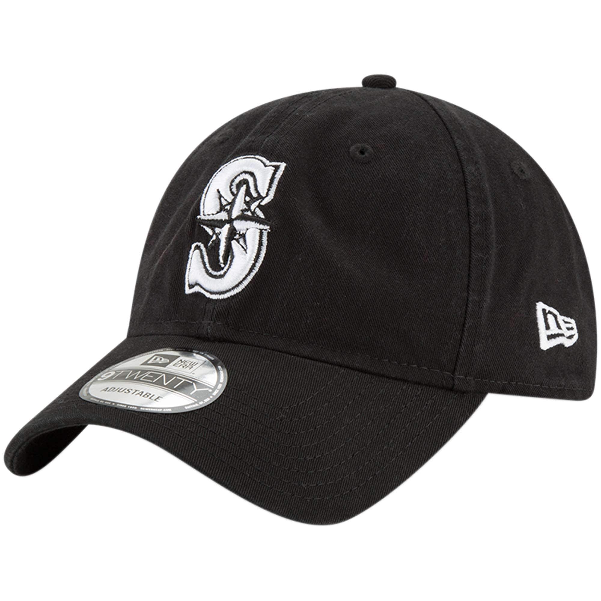 Seattle Mariners New Era Core Classic Twill 9TWENTY Adjustable Hat - Black