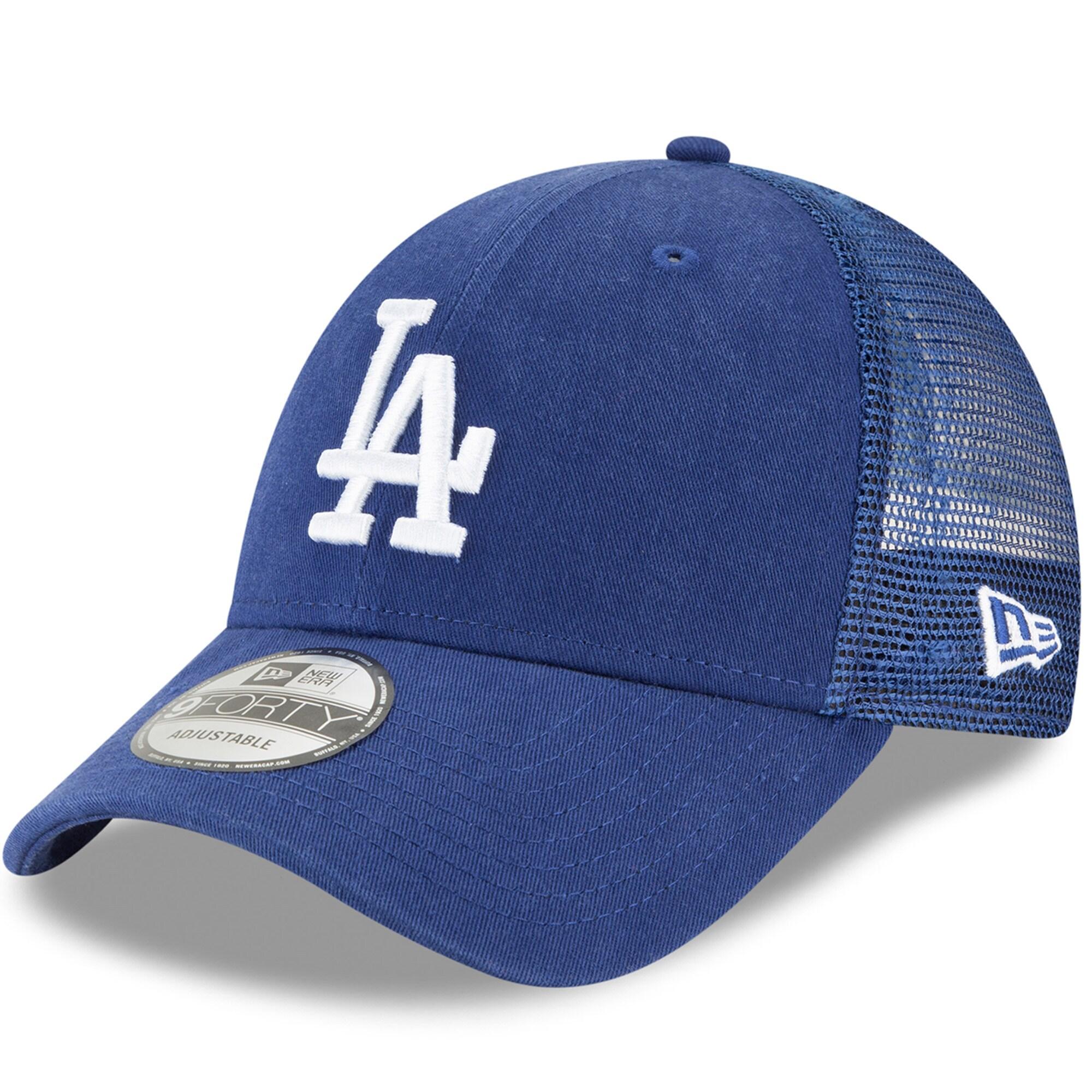 Los Angeles Dodgers New Era Trucker 9FORTY Adjustable Snapback Hat - Royal