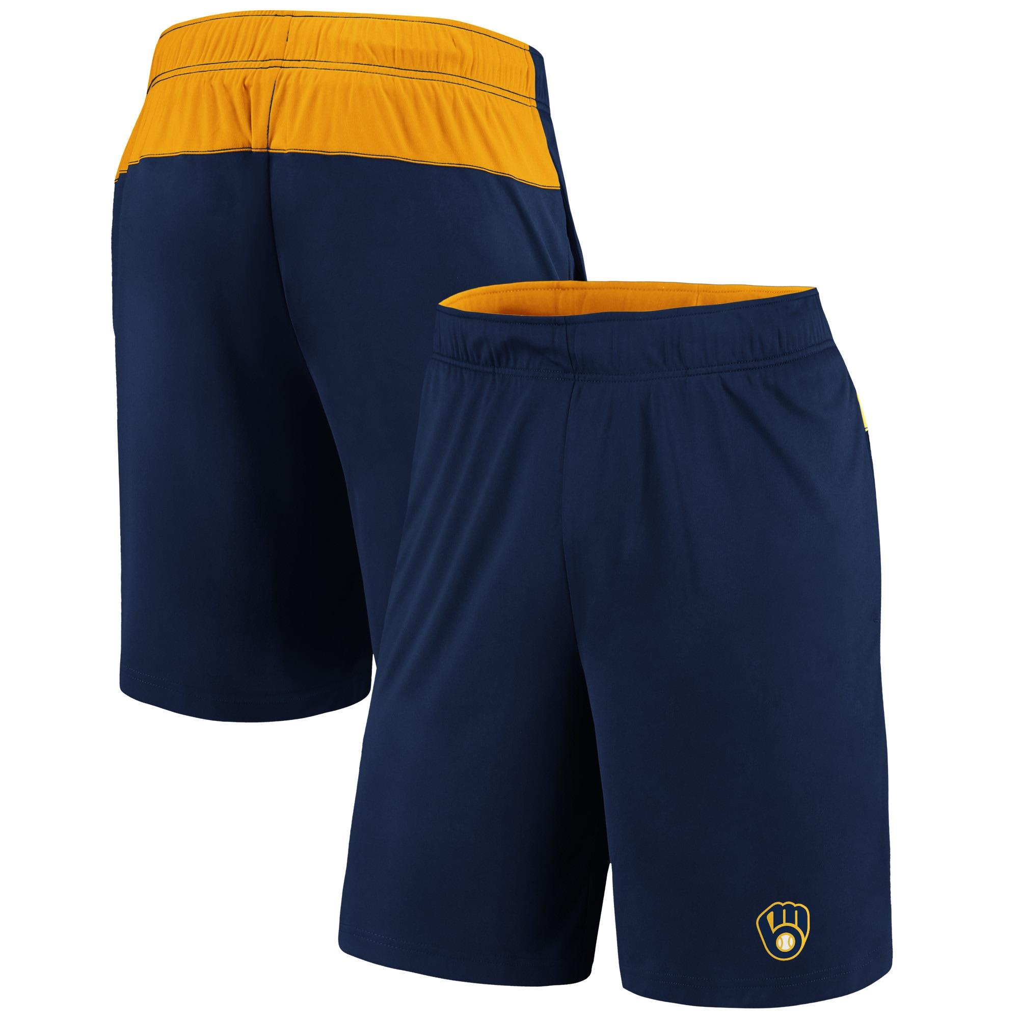Milwaukee Brewers Fanatics Branded Primary Logo Shorts - Navy