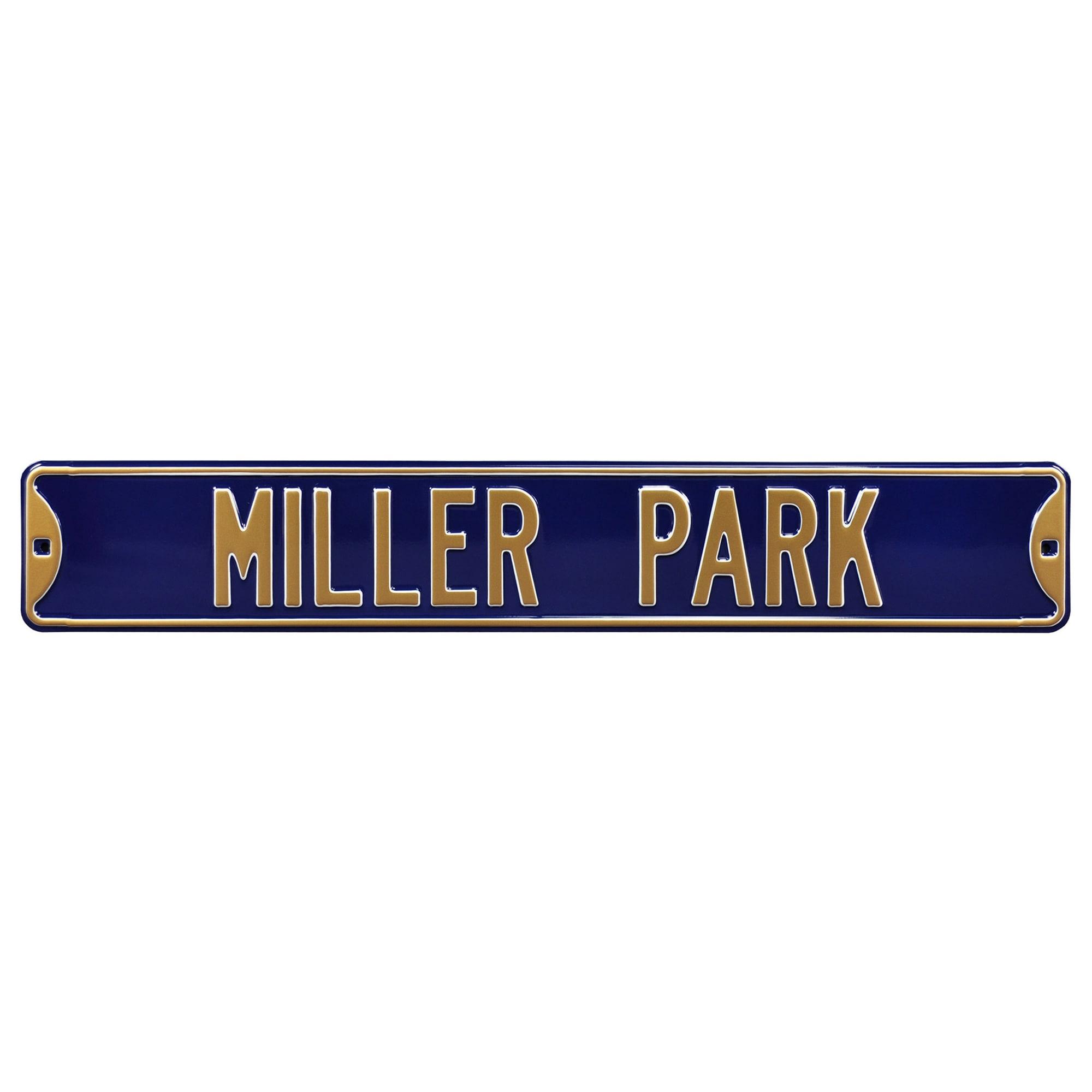 Milwaukee Brewers Stadium Steel Street Sign