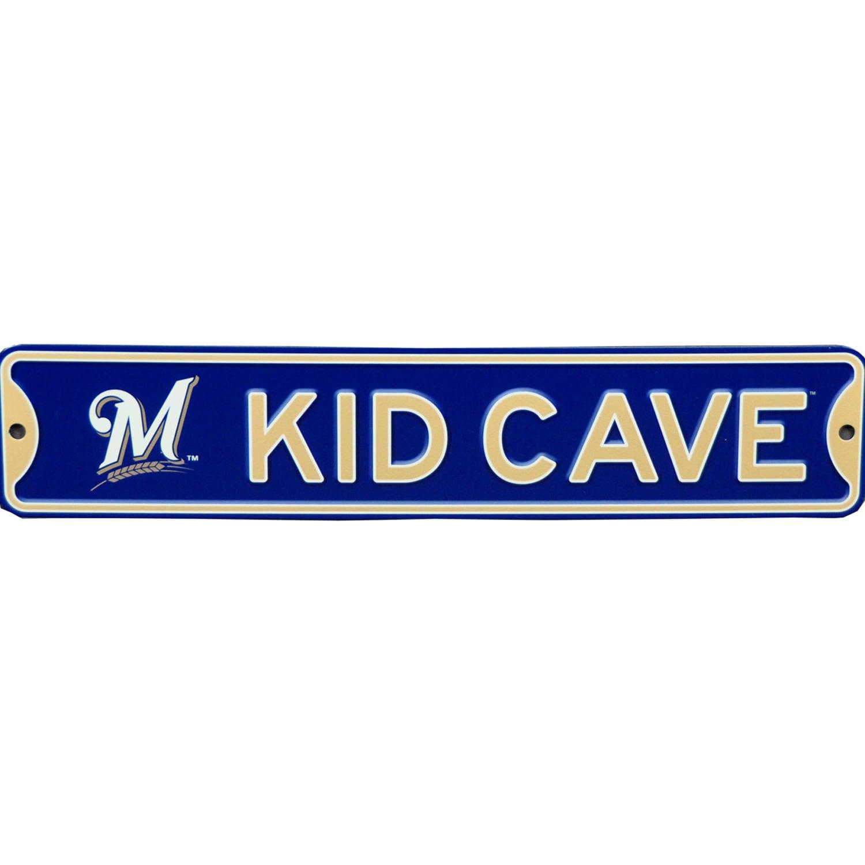 Milwaukee Brewers 16'' Mini Steel Kid Cave Street Sign