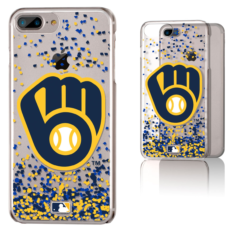 Milwaukee Brewers Galaxy iPhone 6 Plus/6S Plus/7 Plus/8 Plus Confetti Design Clear Case