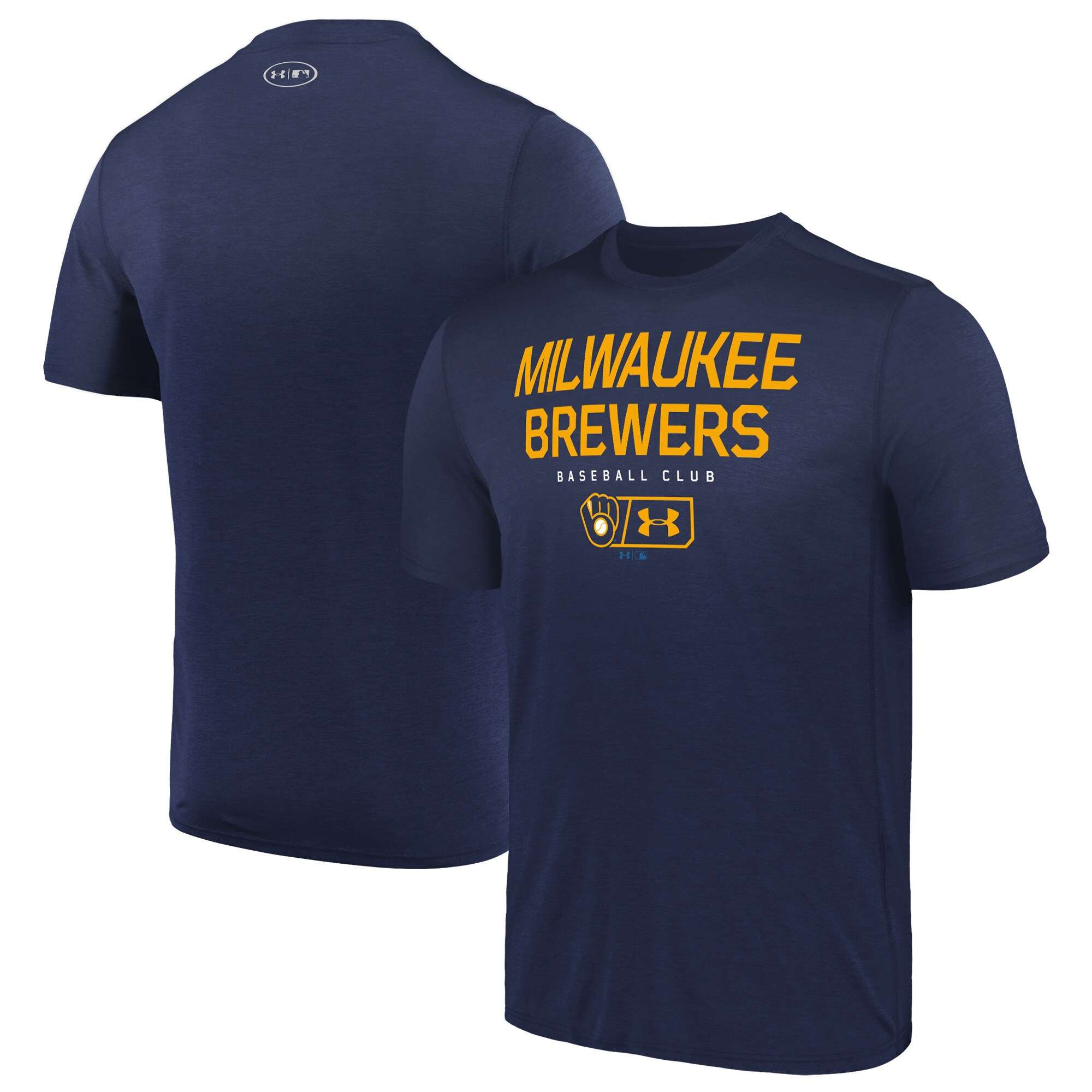 Milwaukee Brewers Under Armour City Proud Performance T-Shirt - Navy